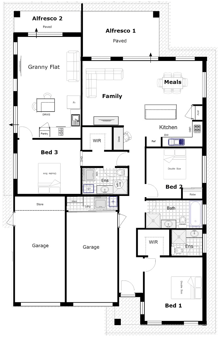 Designs House Plan With Attached Studio on house kitchen plans, house basement plans, house open plans, house garage plans, house apartment plans, house front plans, house side plans, house ranch plans, house cottage plans,