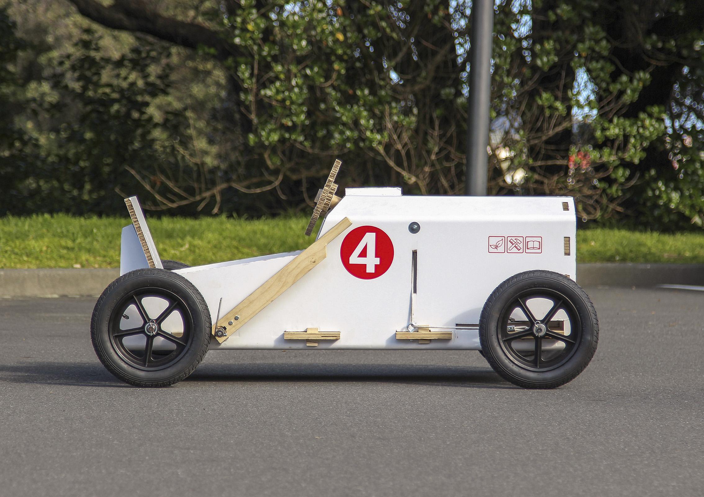 Kit-Netic Cardboard Soapbox Racer. Glenn Catchpole. Massey University.