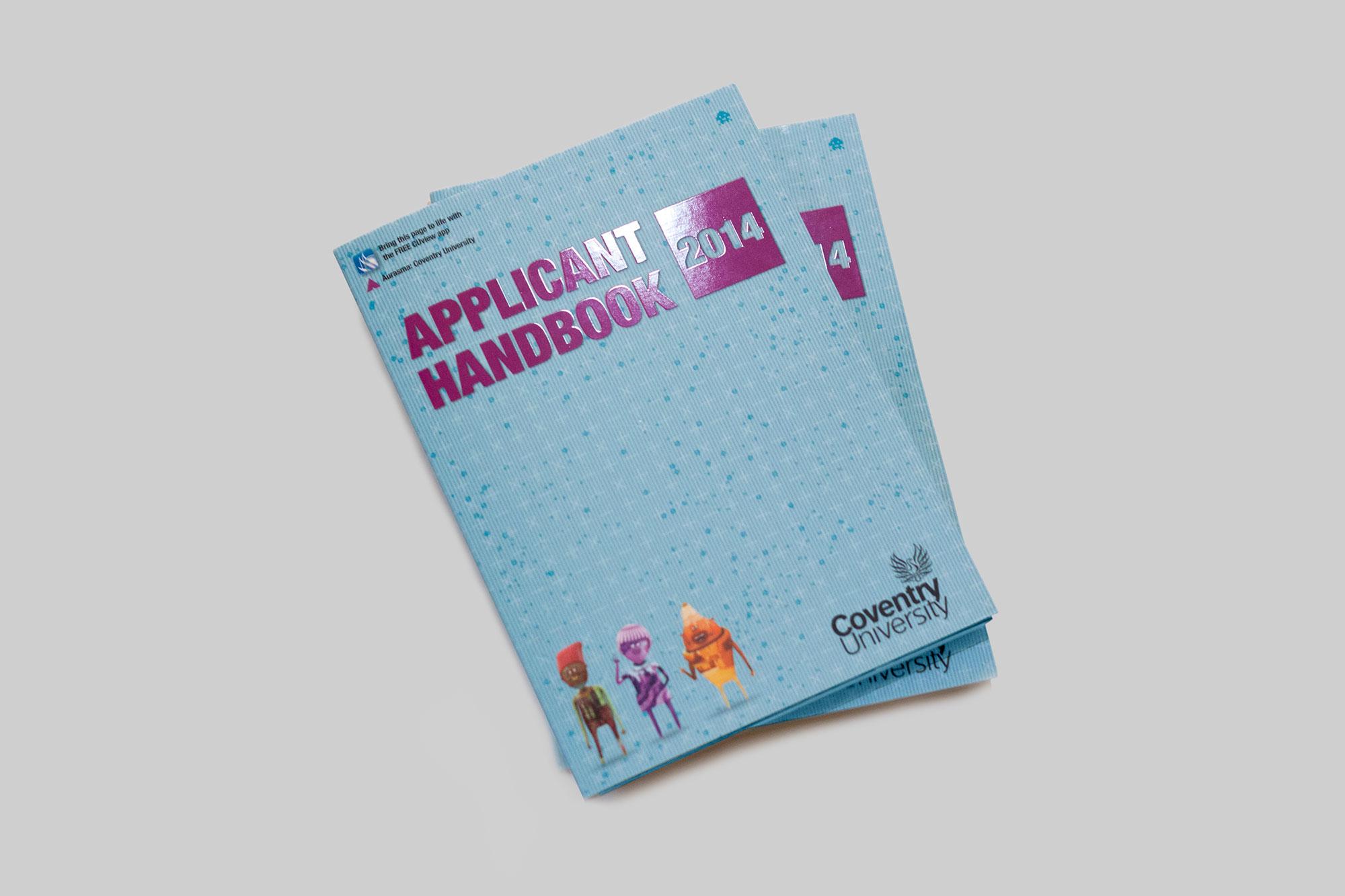 Applicant Handbook A6 booklet design