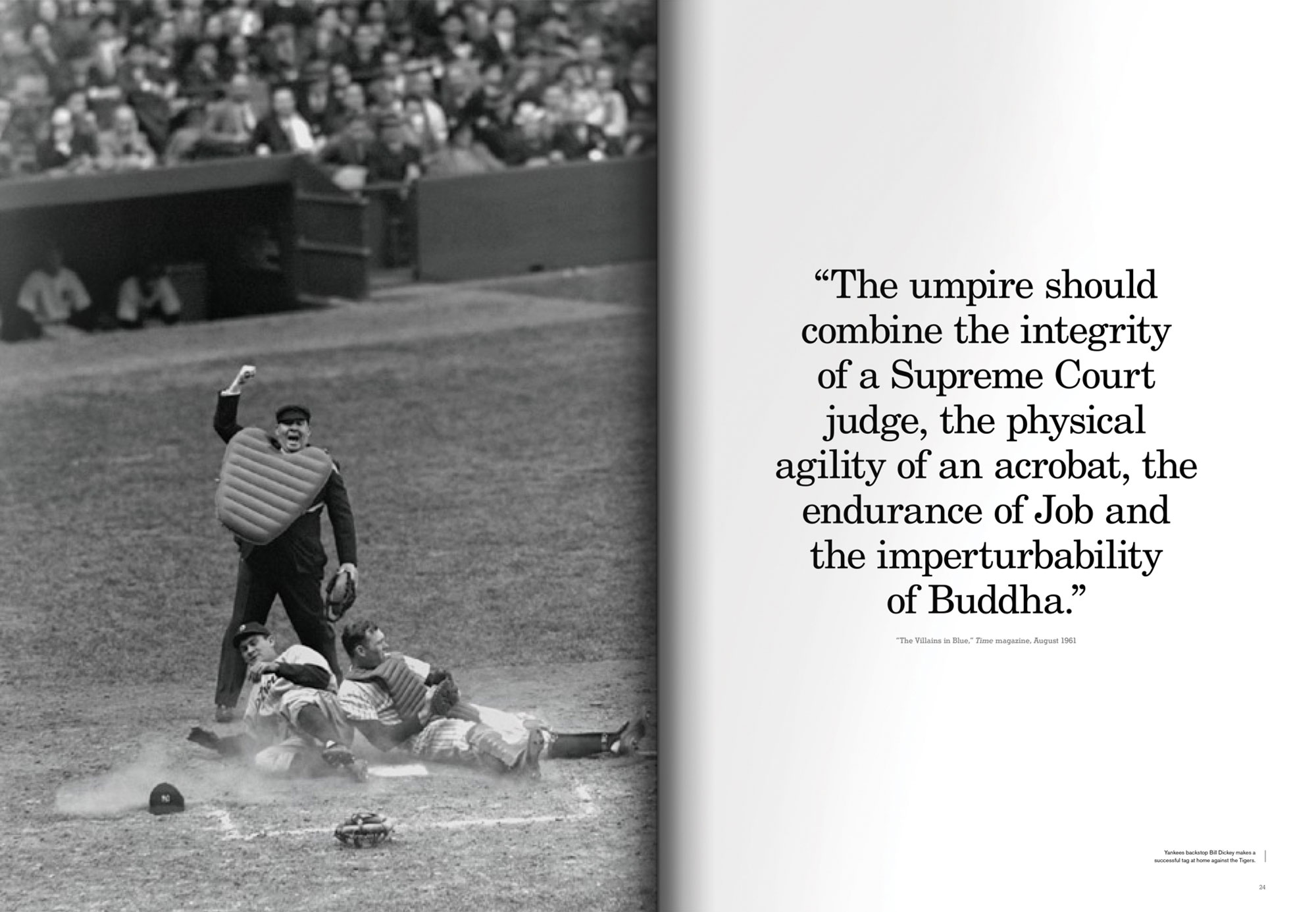 The Umpire in a baseball game
