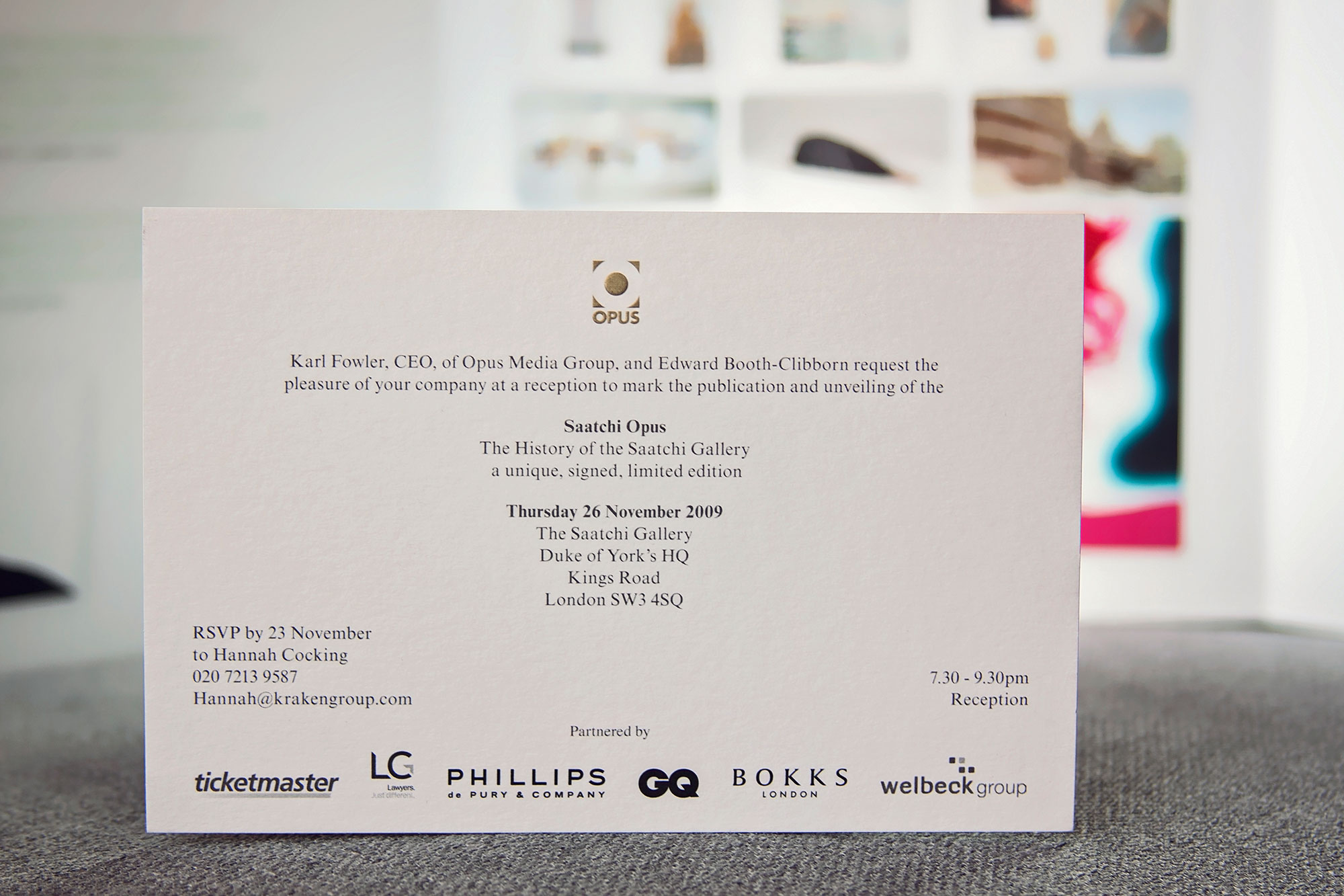 Printed direct mail invite. Graphic design by Martin Sully  .Based in Auckland, New Zealand, and Newcastle, NSW, Australia.