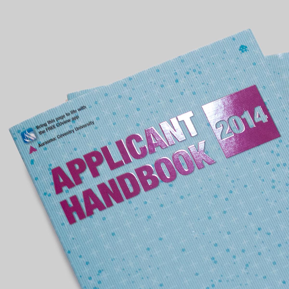 Applicant Handbook booklet design
