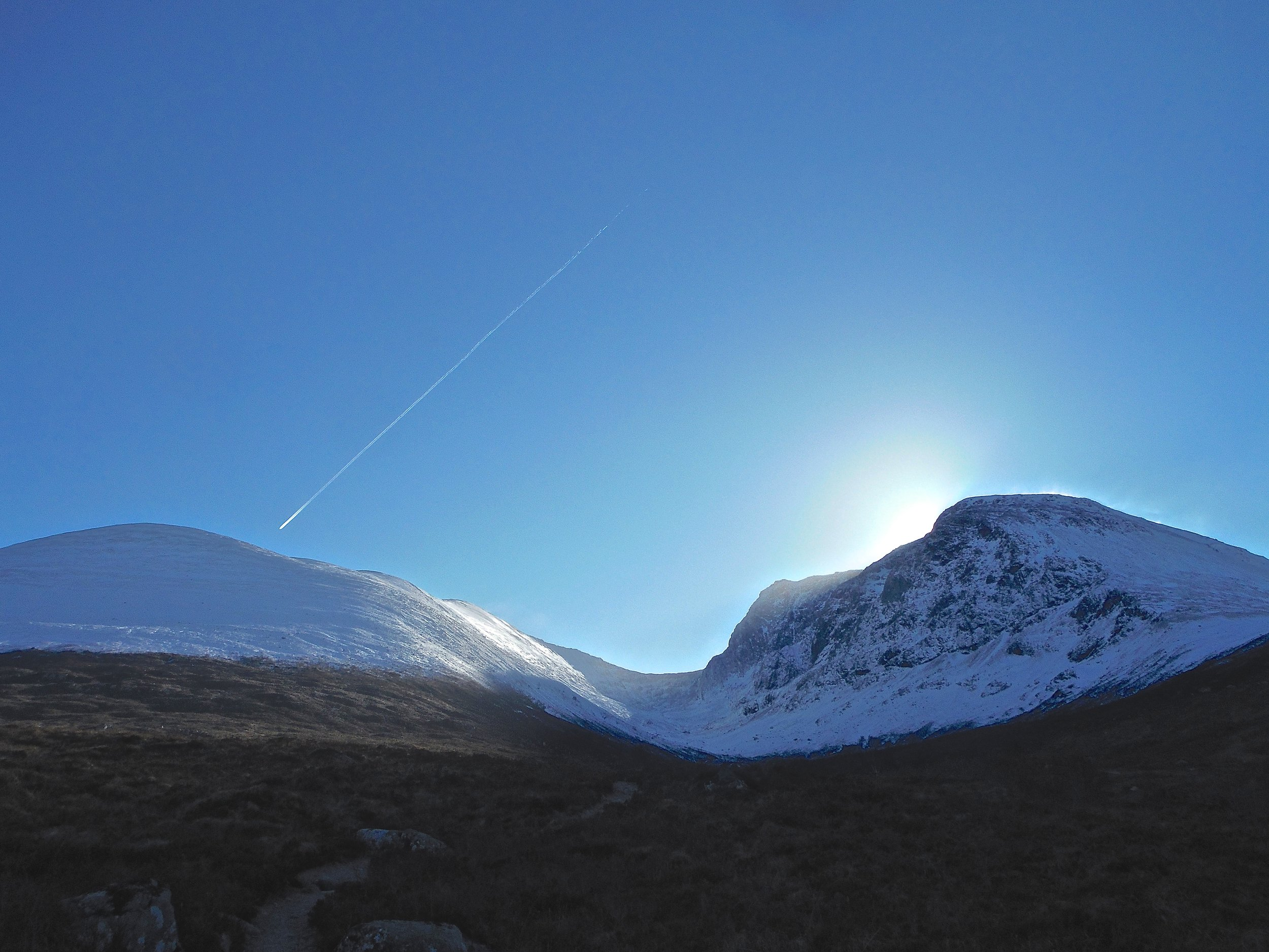 Perfect morning and the sun beginning to rise over Ben Nevis