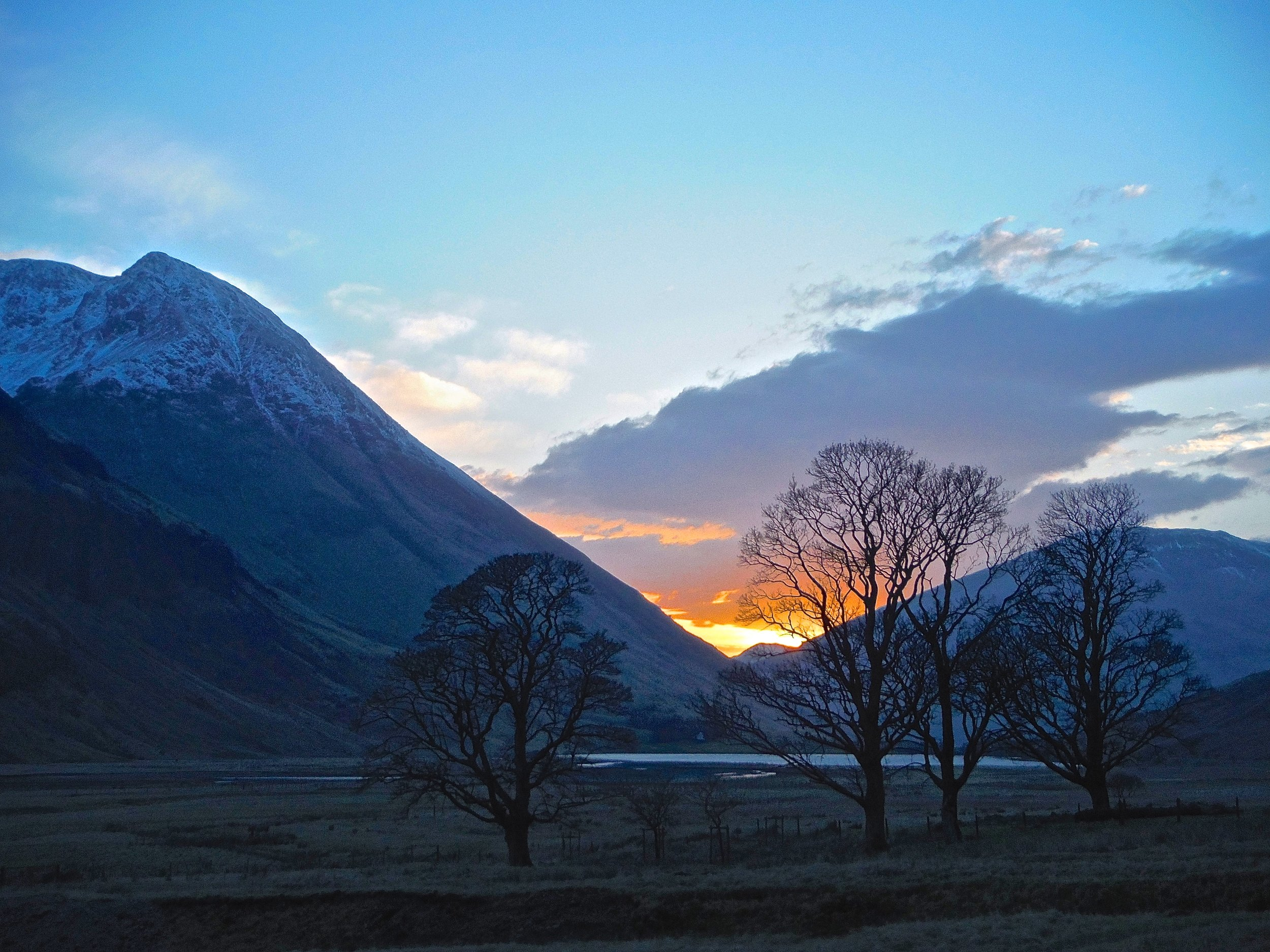Sunset near Glencoe