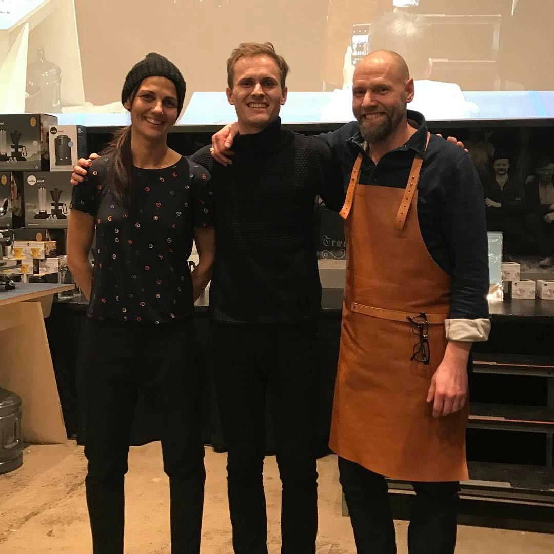 右からSonja, Anders, Søren (出典  Dansk Kaffeshow)