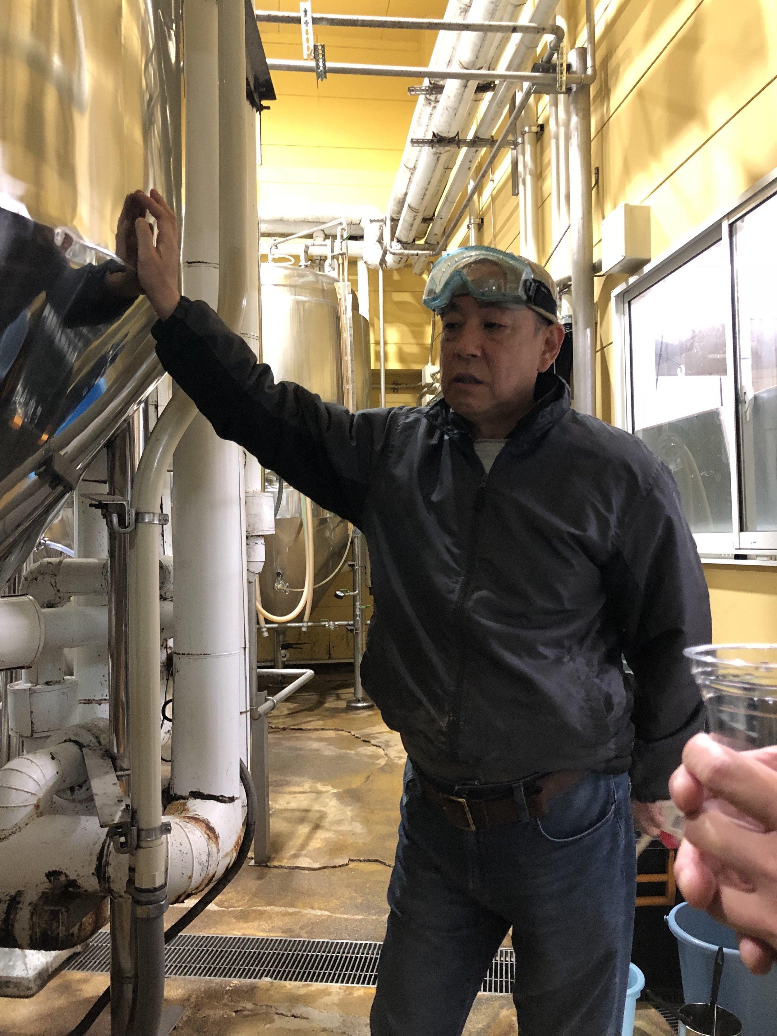 Yamaguchi Beer head brewer