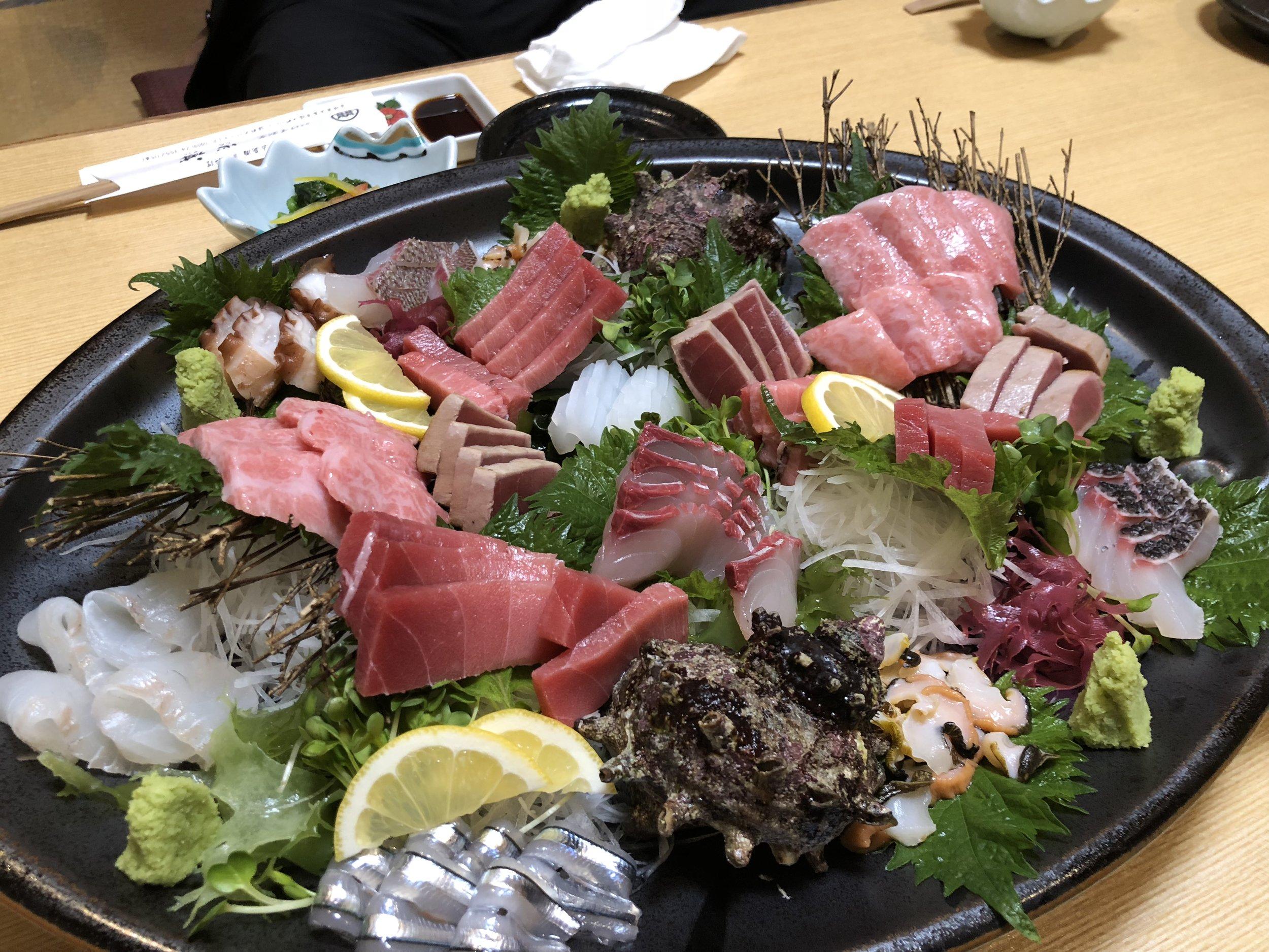 Best tuna sashimi from sustainable source