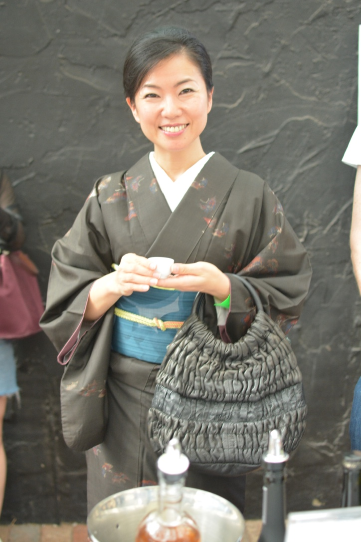 Japanese lady at the sake matsuri festival