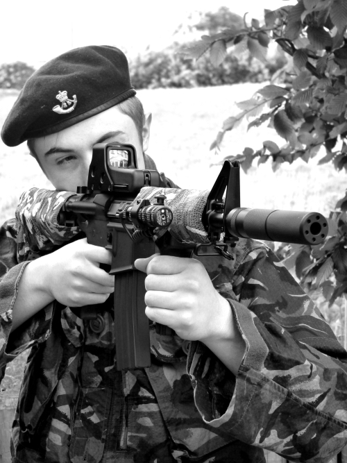 A younger me with my first  Airsoft  rifle - May 2011