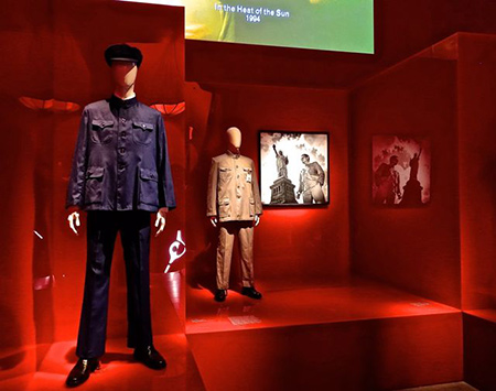 "Blue Mao suit as presented in ""China Through The Looking Glass"" exhibit. Photo courtesy of the Metropolitan Museum of Art."