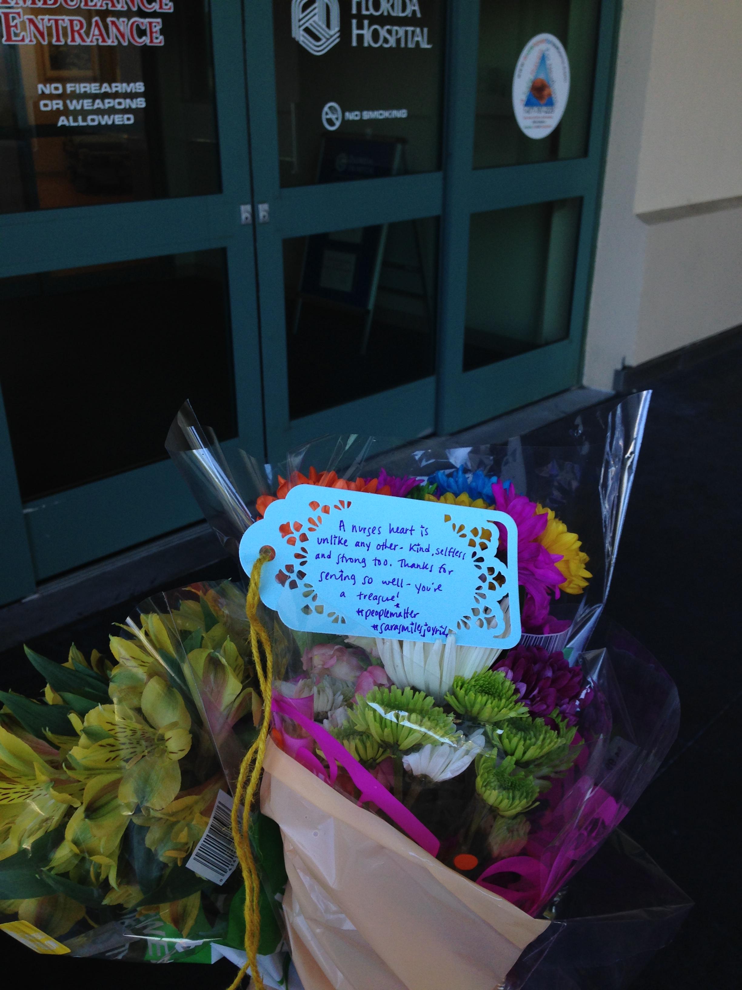 Flowers for the ER nurses