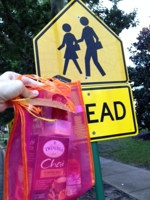 Pumpkin spice for the crossing guards