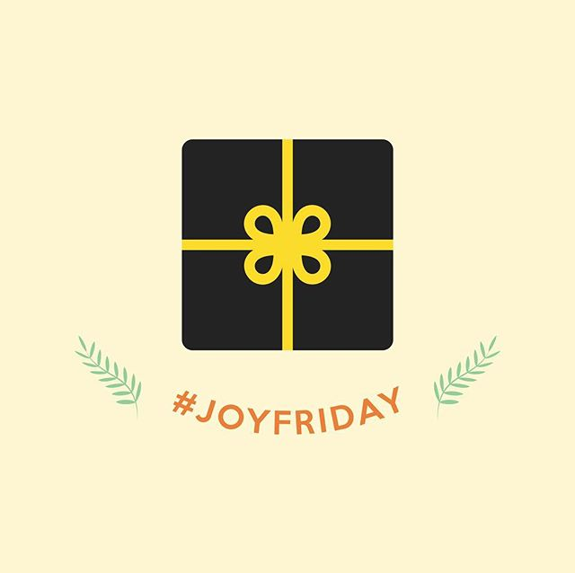 "Tomorrow's the day! Go somewhere, bring something, say ""thanks"" 💛 Black Friday is happening regardless, but we can change the narrative. #JoyFriday"