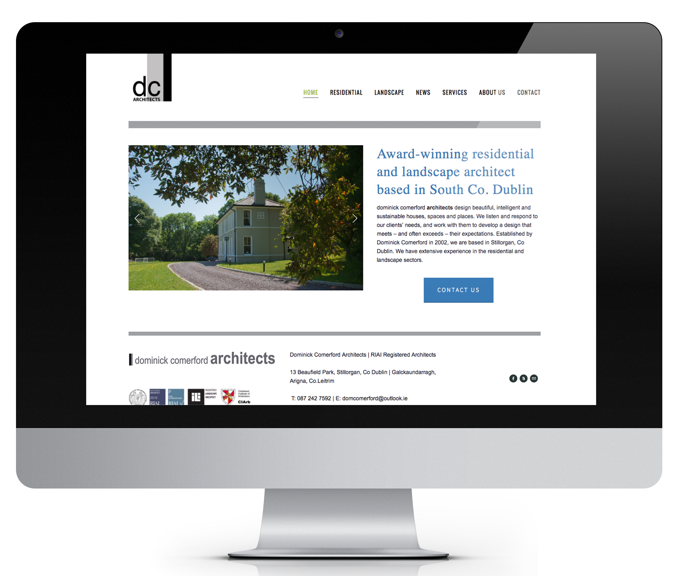DC Architects approached me to design their website, showcasing some of their best designs. They now manage the site themselves, thanks to the user-friendly Squarespace that I use for all my websites.