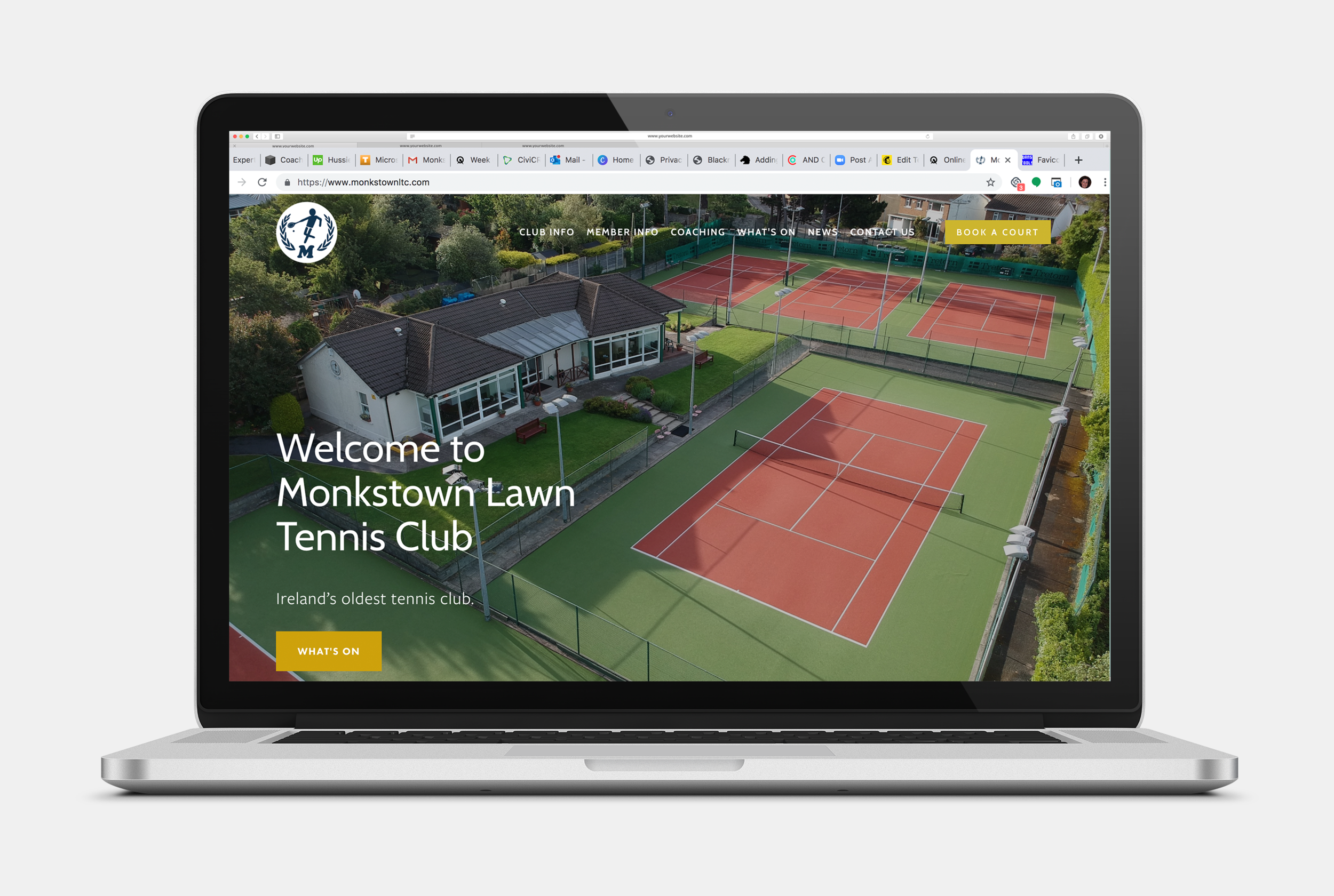 Oh, one of my favourite projects - Monkstown Lawn Tennis Club. Beautiful photography and lots of useful content is sure to make this site a hit (excuse the pun) with their members.