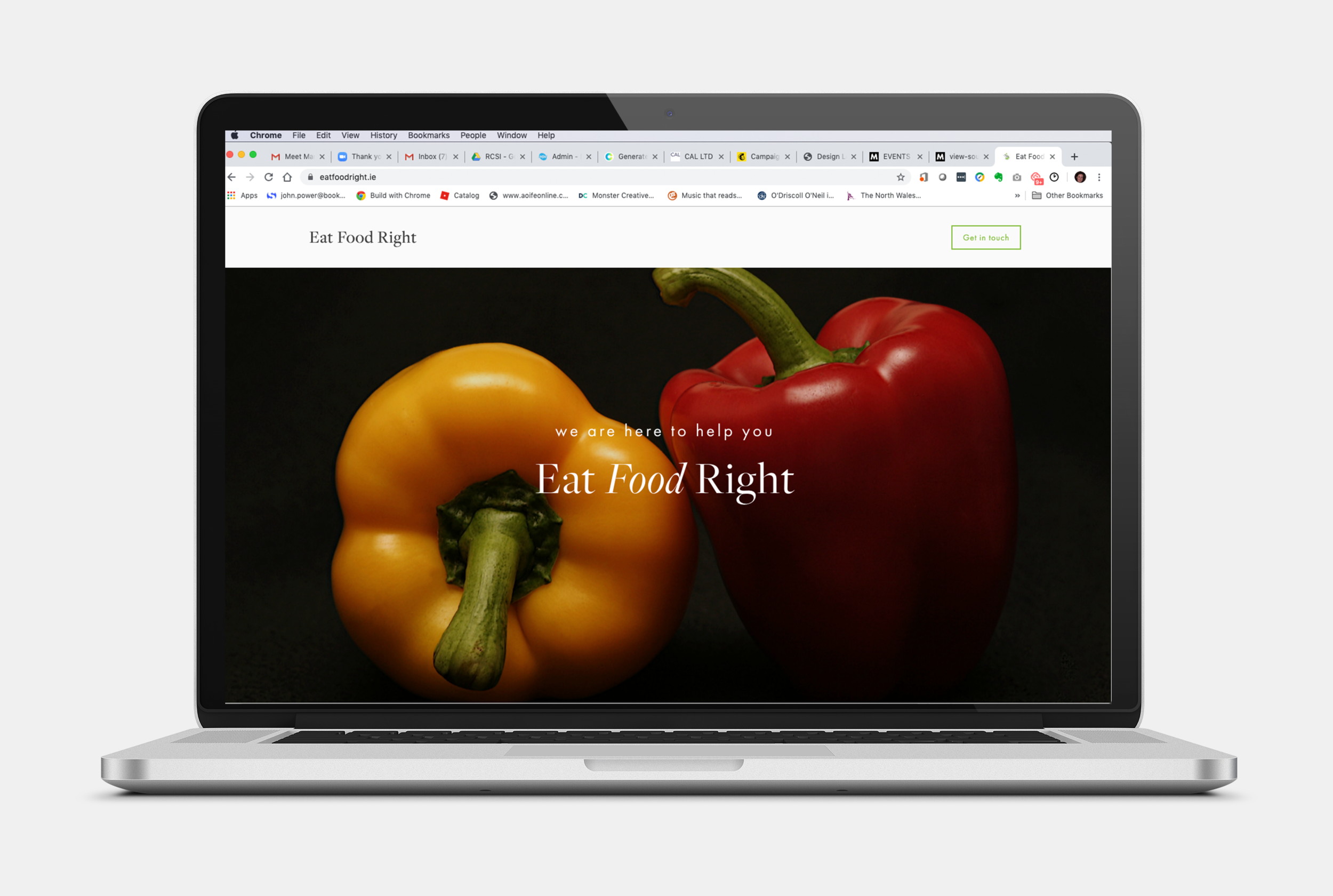 When all you need is a one-page website. Eat Food Right is a one page site for Nutritional Therapist Rachel Young. When she gets her LEO funding, we will develop this into a full site, but for now she gets her message across succinctly and still with multiple calls to action.