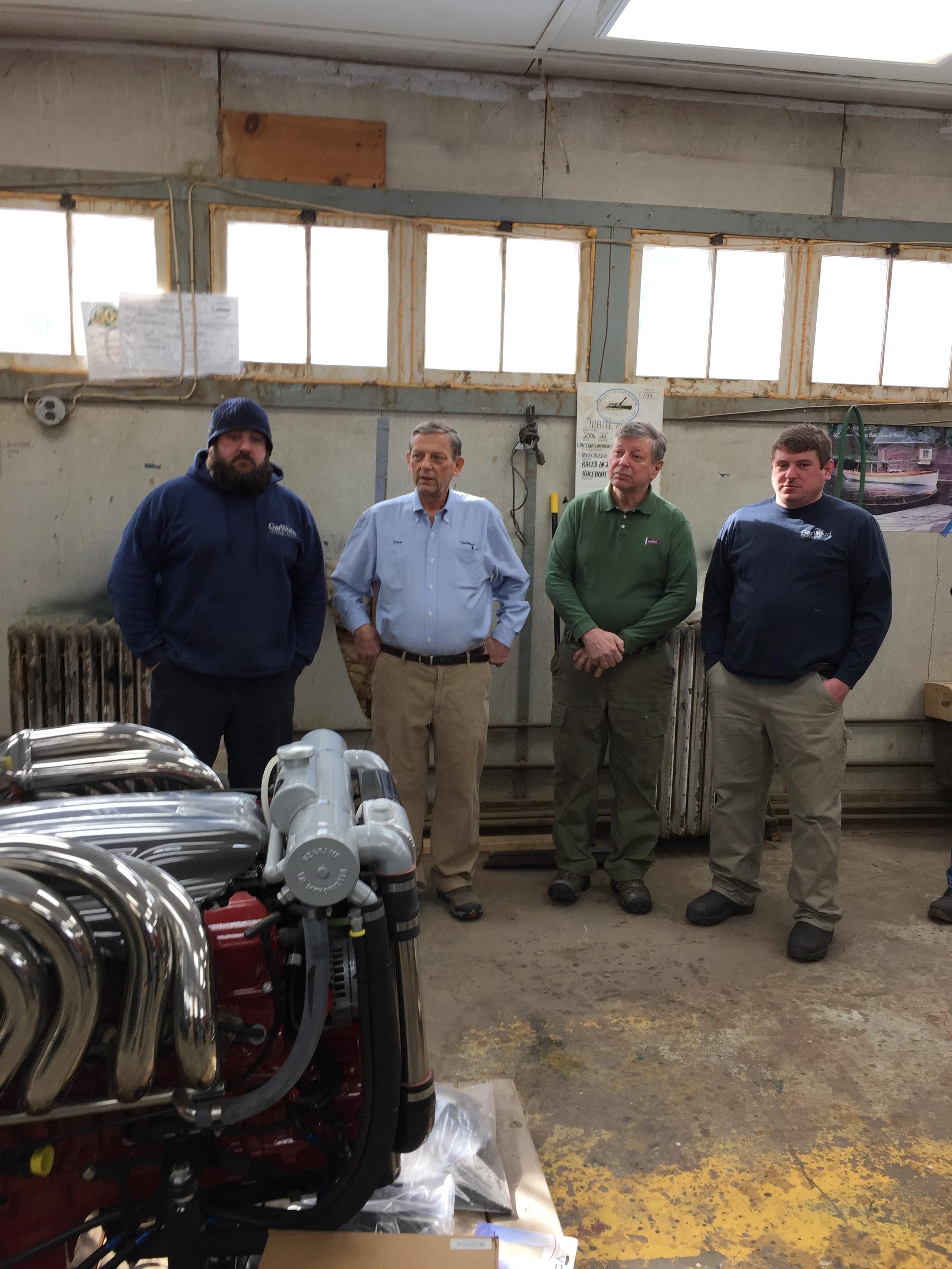 Left to right,  Tom Turcotte jr,  Tom turcotte sr,  Larry turcotte,  joe turcotte