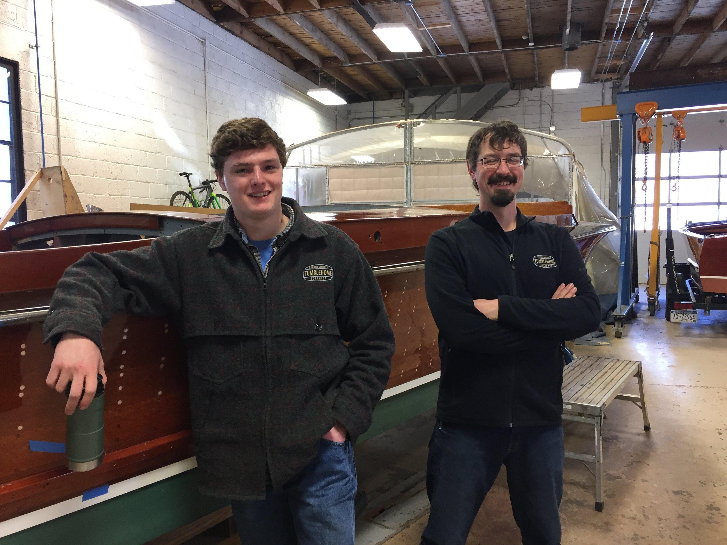 John Gaffney, left, Jake Greiner, right.