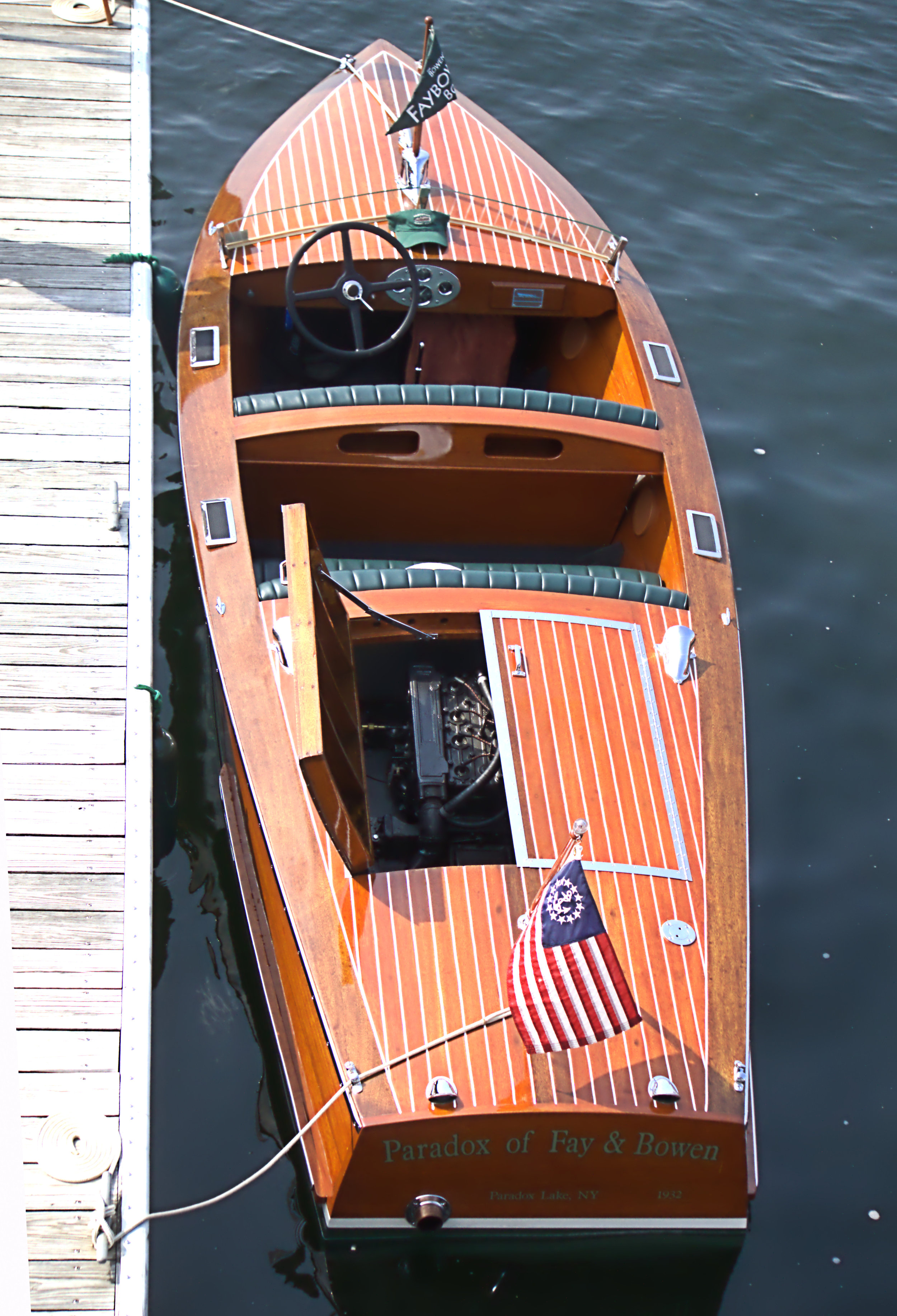 Best in Show - Paradox of Fay and Bowen, 1932 18' Faybow Boats Ludington Runabout, owned by Jim and Karin Bowen