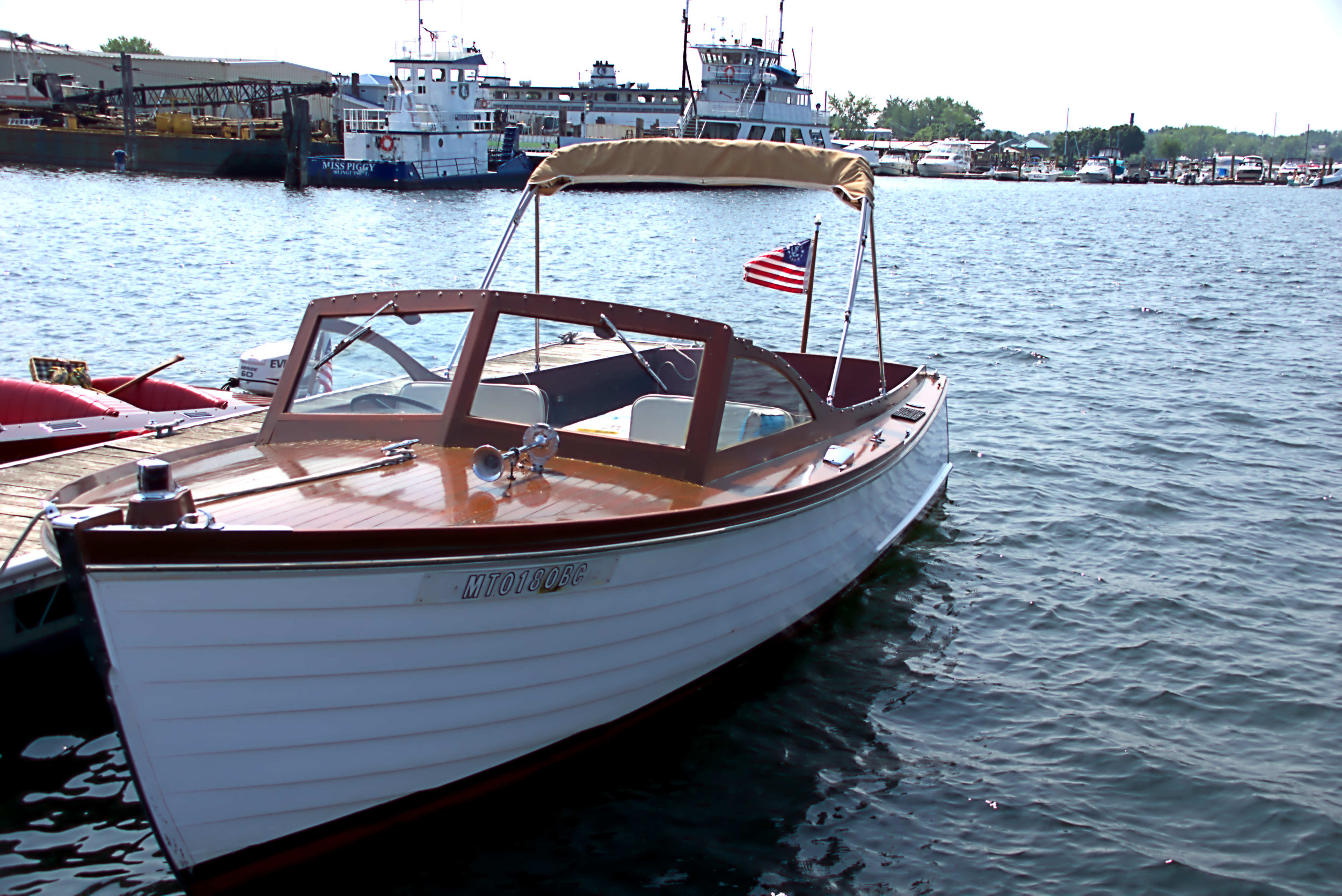 Most Original - Tydamar II, 1957 24' Hubert Johnson, Classic Lapstrake Utility, owned by Matt Foley and Susie Becker