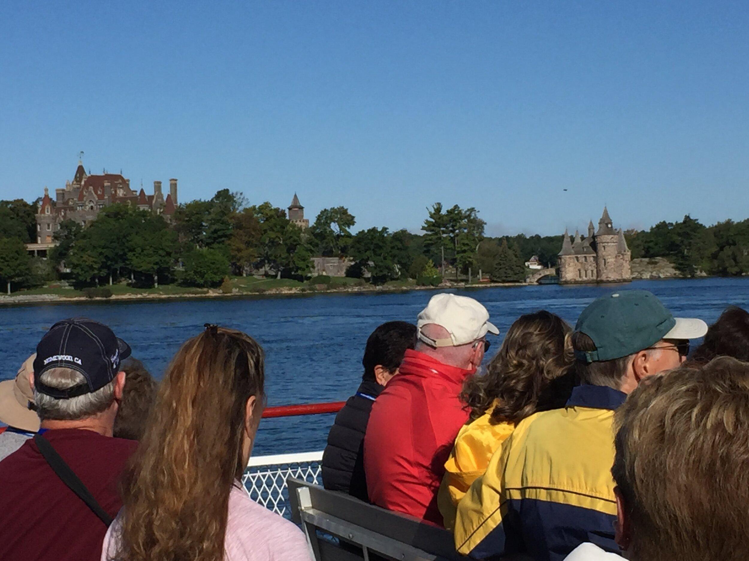 Monday's Dark Island Tour aboard Uncle Sam's Tour Boat. This is Boldt Castle