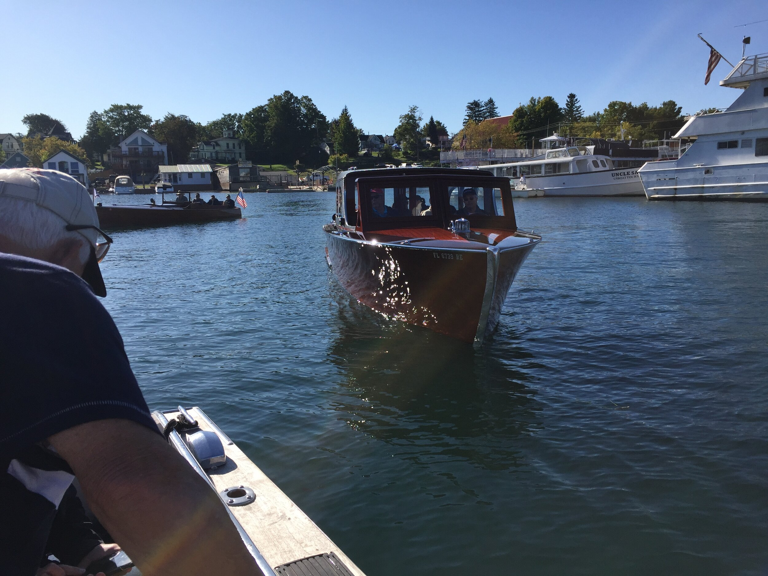 Tuesday's tour of Wellesley Island aboard Matt and Susie's Hubert Johnson Blackjack