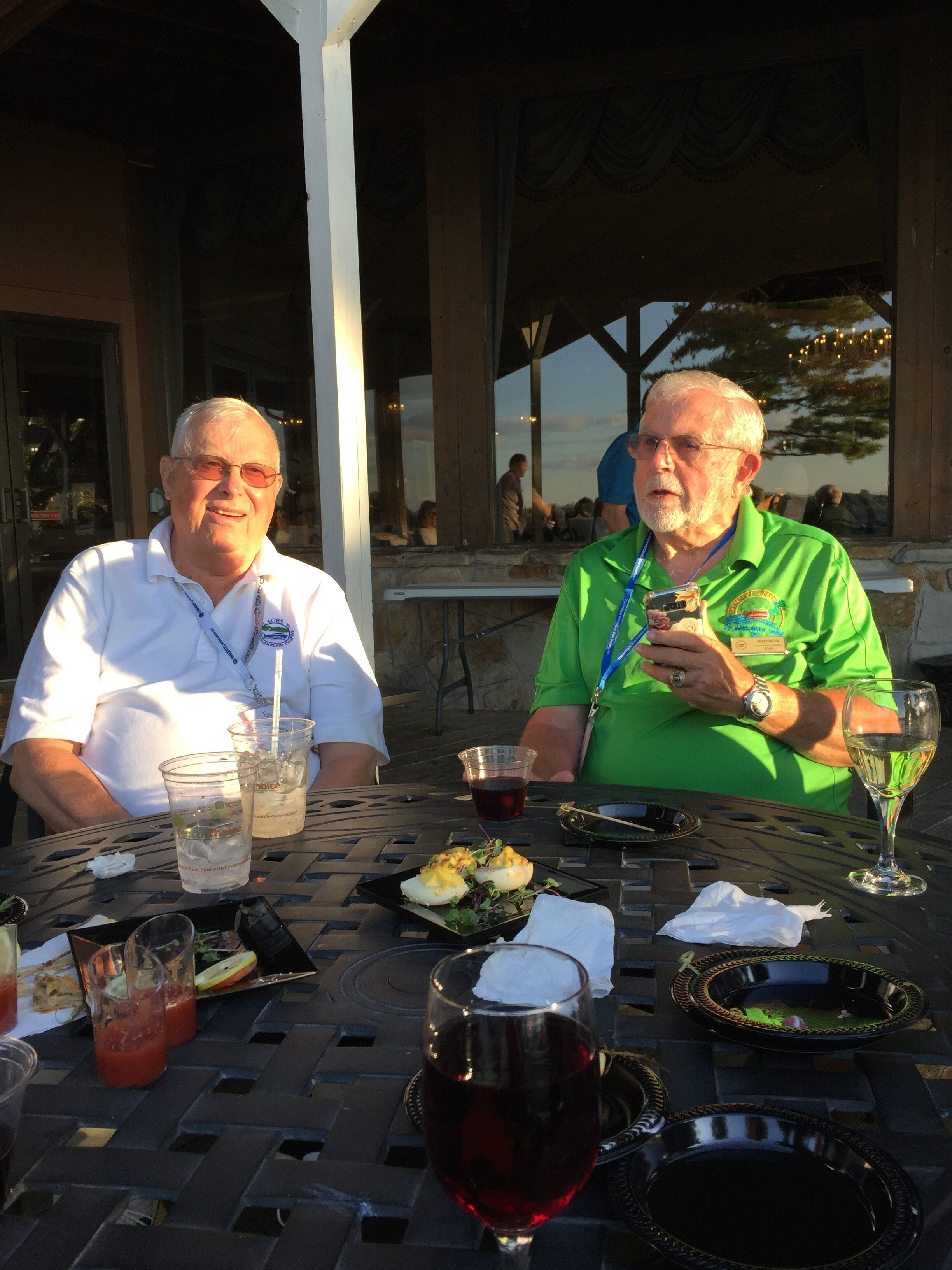 Gene and Bill at Tuesday afternoon's Welcome Reception at the Bonnie Castle