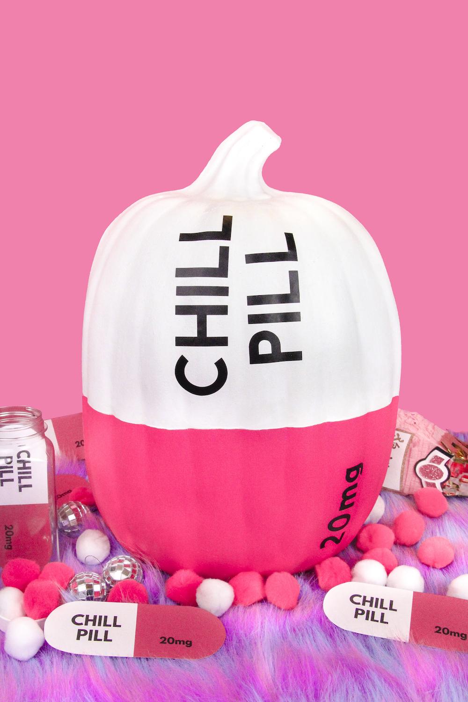 Chill Pill pumpkin from  @britandbubbly