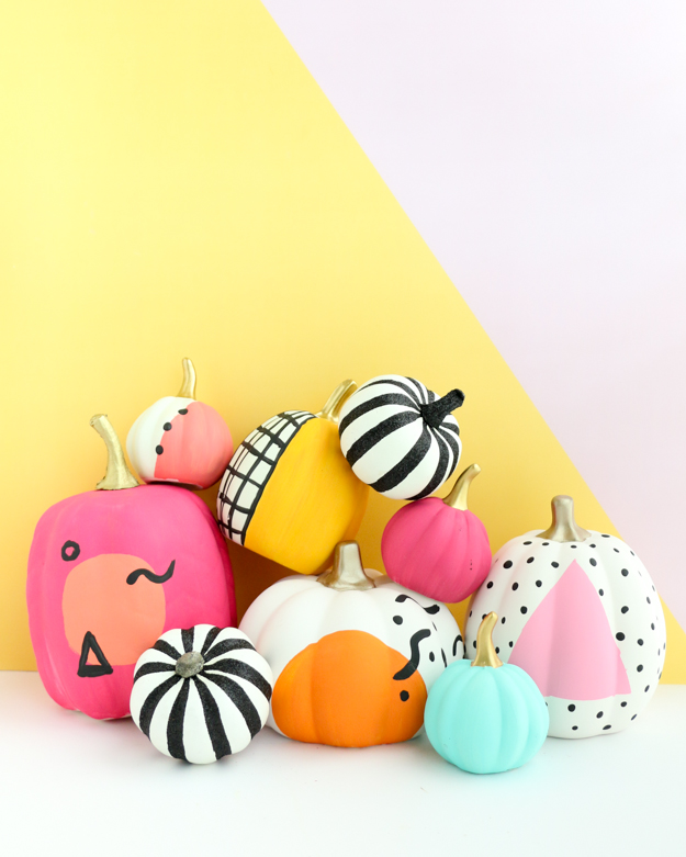 80's Inspired Painted pumpkin from  @AKhailoChicLife