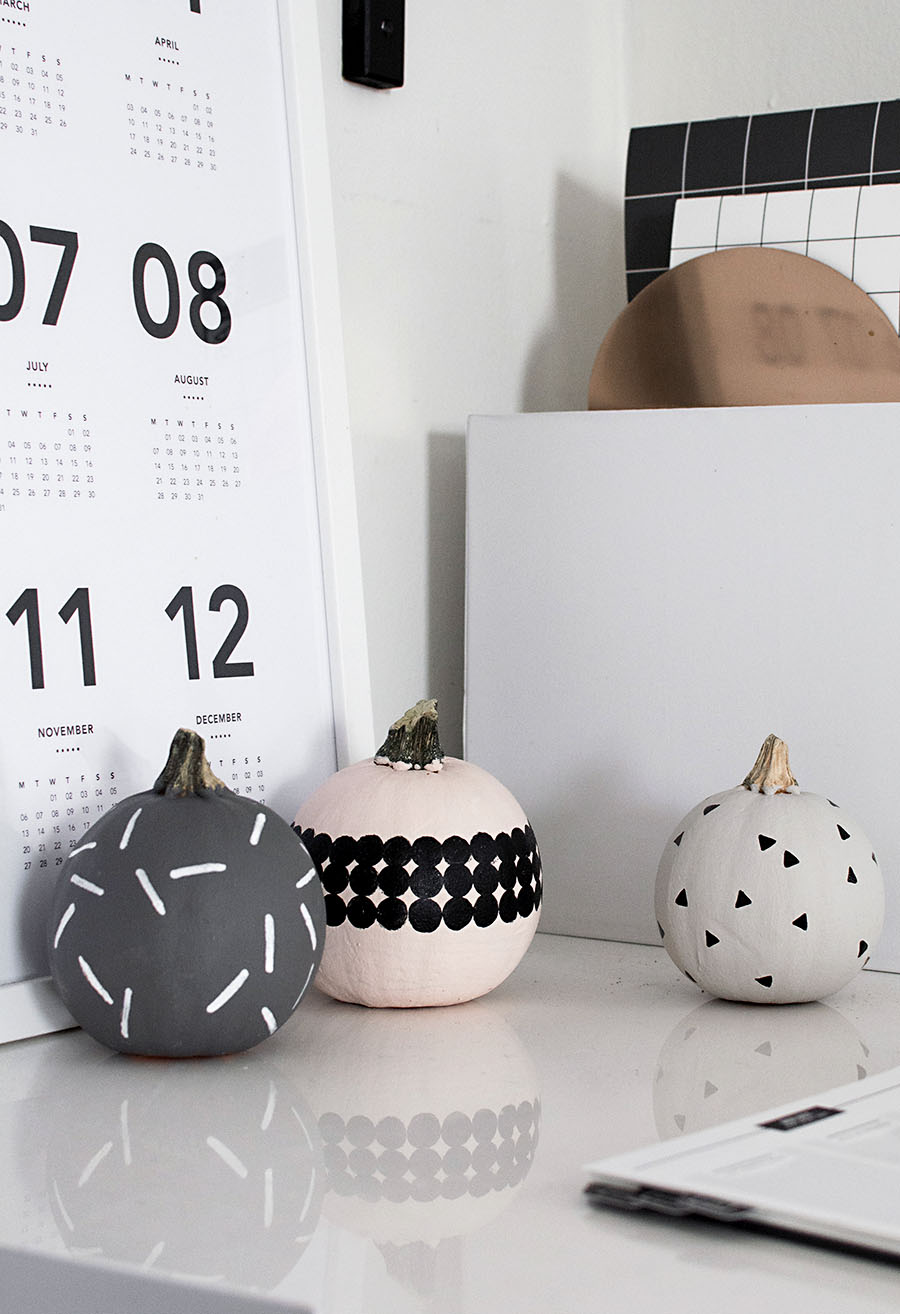 Mini Patterned Pumpkins from  @homeyohmy