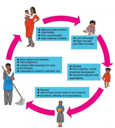 The effects of gender discrimination that start at birth and transfer to the next generation. From Plan International's report on Gender Inequality and Early Childhood Development. Click on image to see full report.