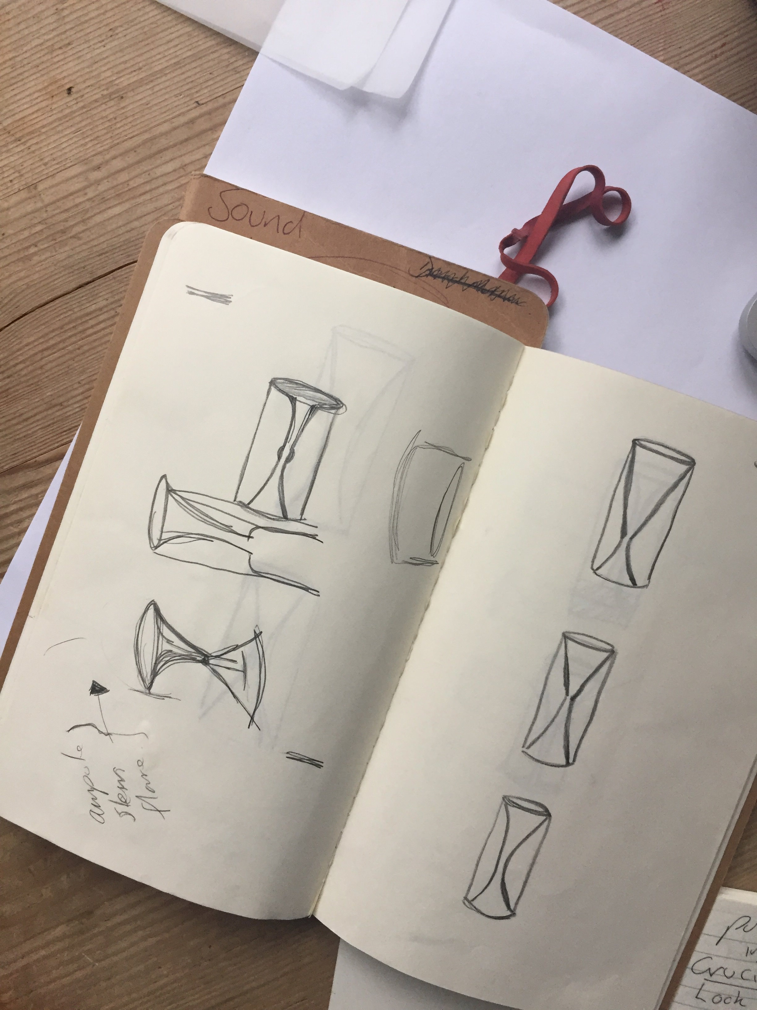 Early sketches by artist  Anne Brodie