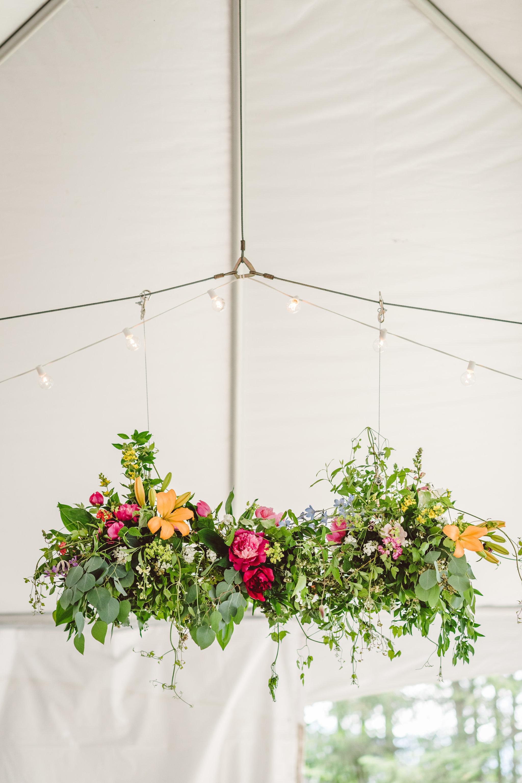 Custom designed floral chandelier