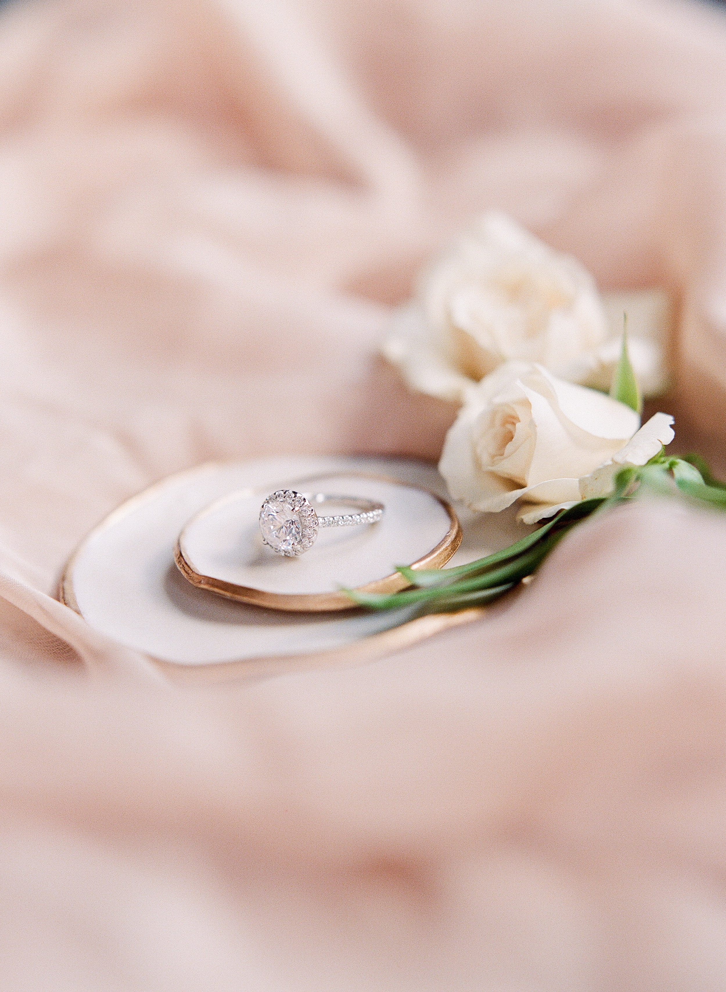 Photo by  Park Road Photography of a  Ritani  engagement ring