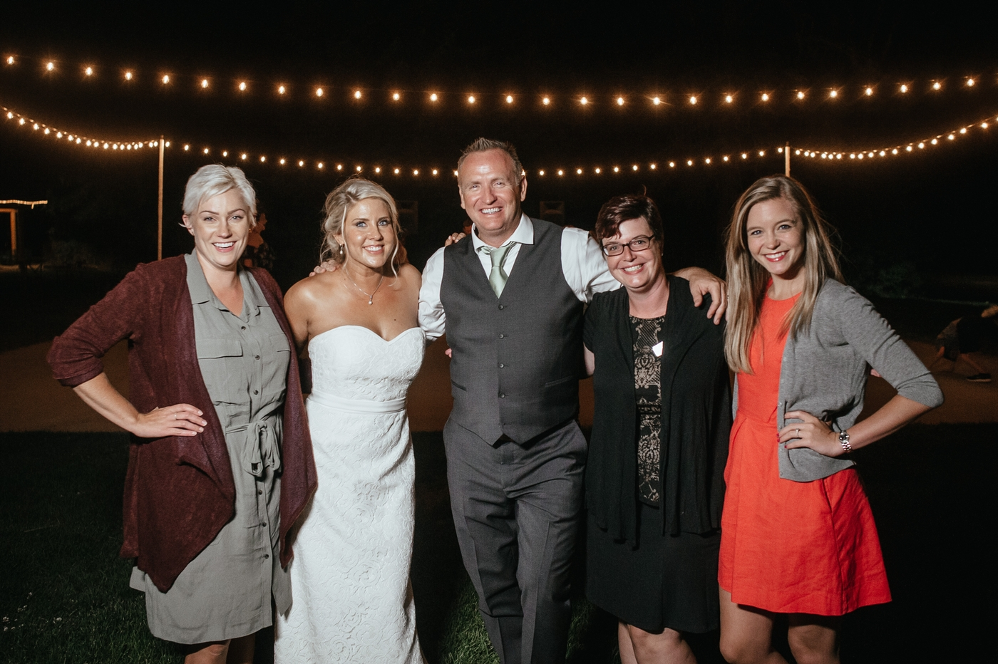 Photo by  Matt Shumate Photography of the Red Letter Event Planning team at a wedding