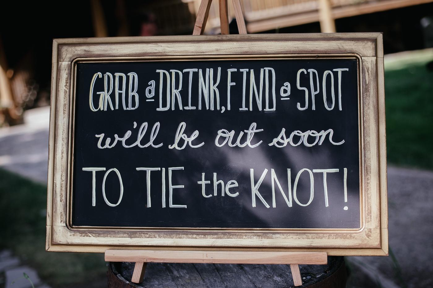 wedding signage sandpoint idaho