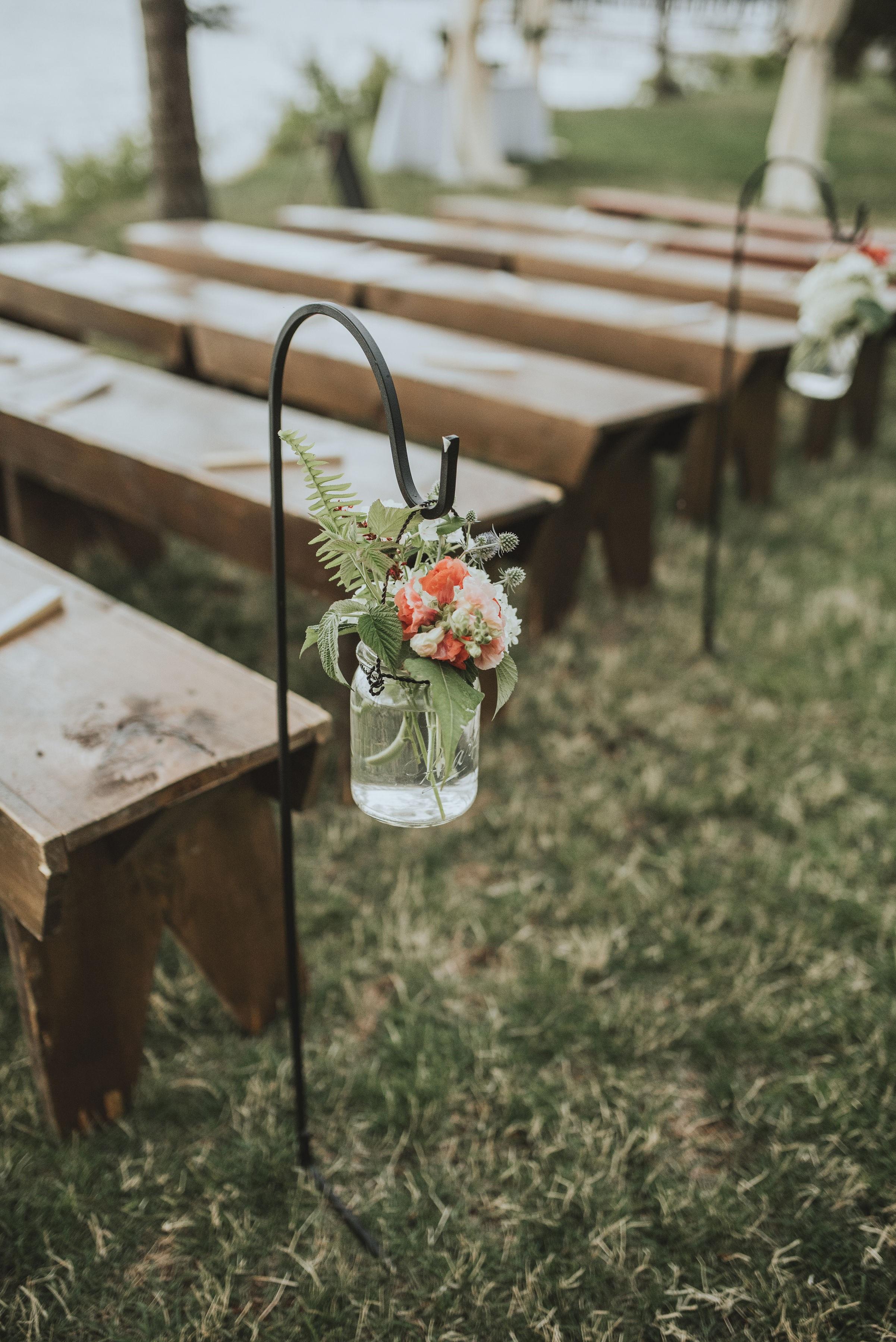 Hanging ceremony flowers