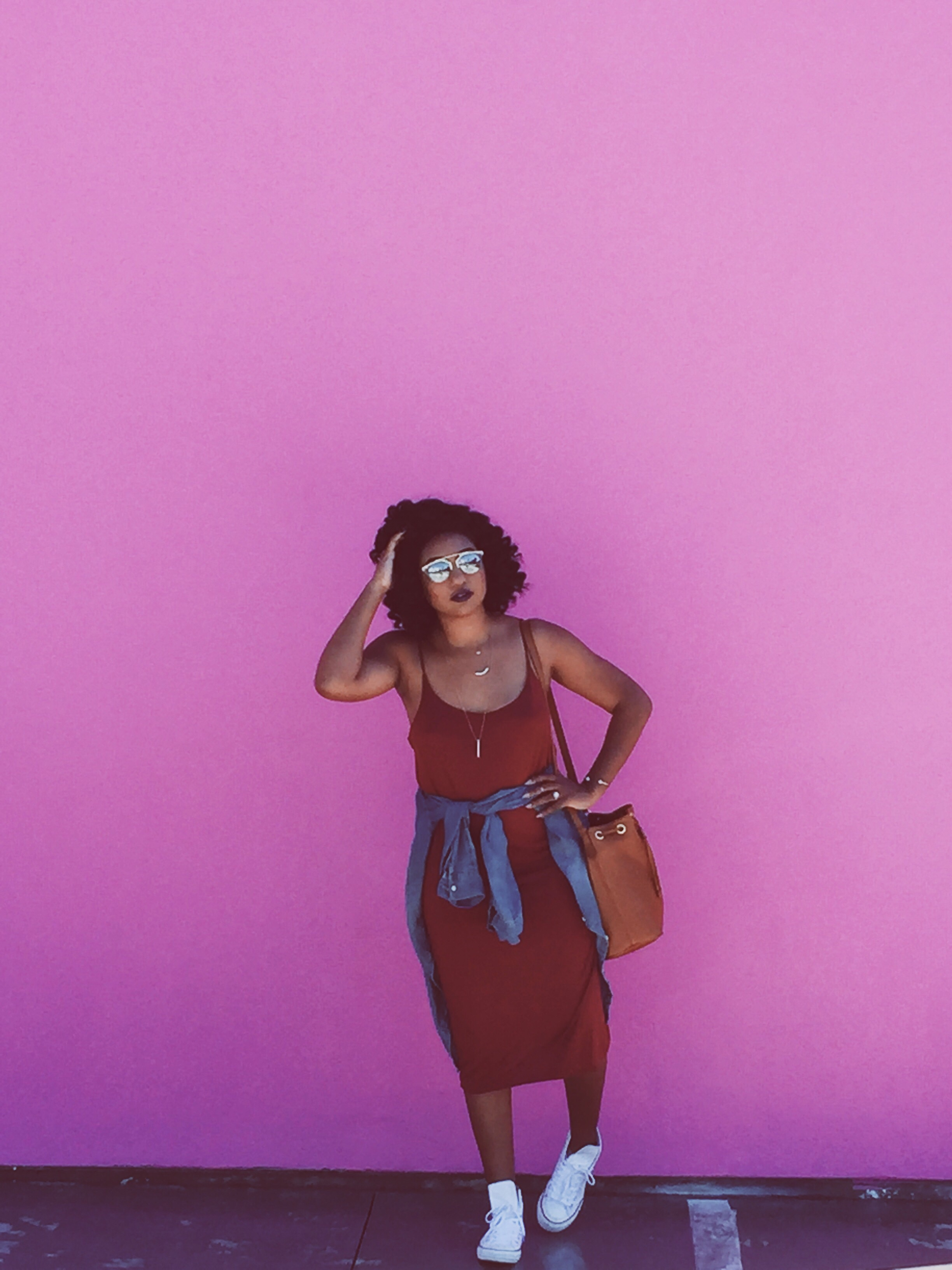 The infamous pink wall at the Paul Smith store in West Hollywood.