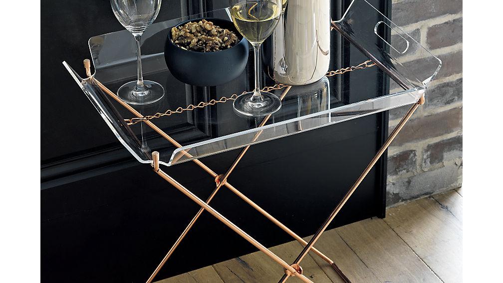 CB2 - Acrylic Tray Table - $79.95