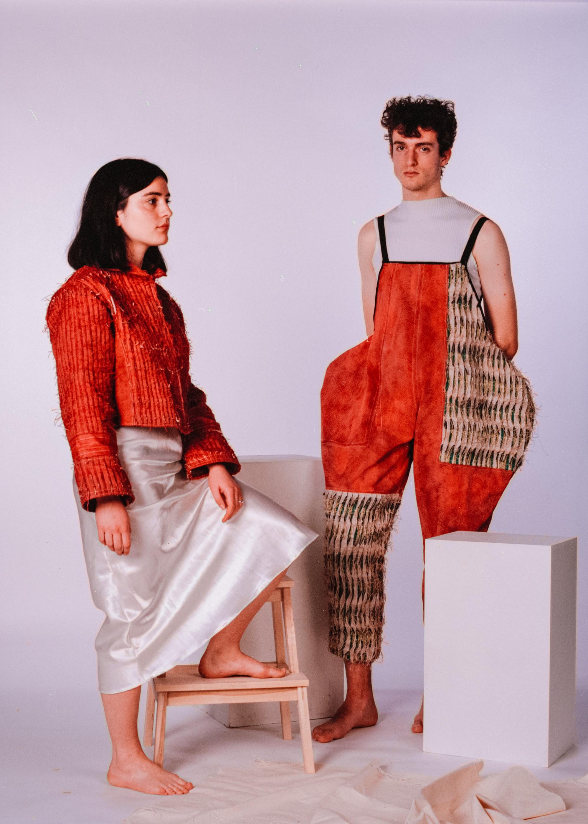 Models: Hannah Draper & Daniel Turner  Jacket & dungarees by Katie Anderson