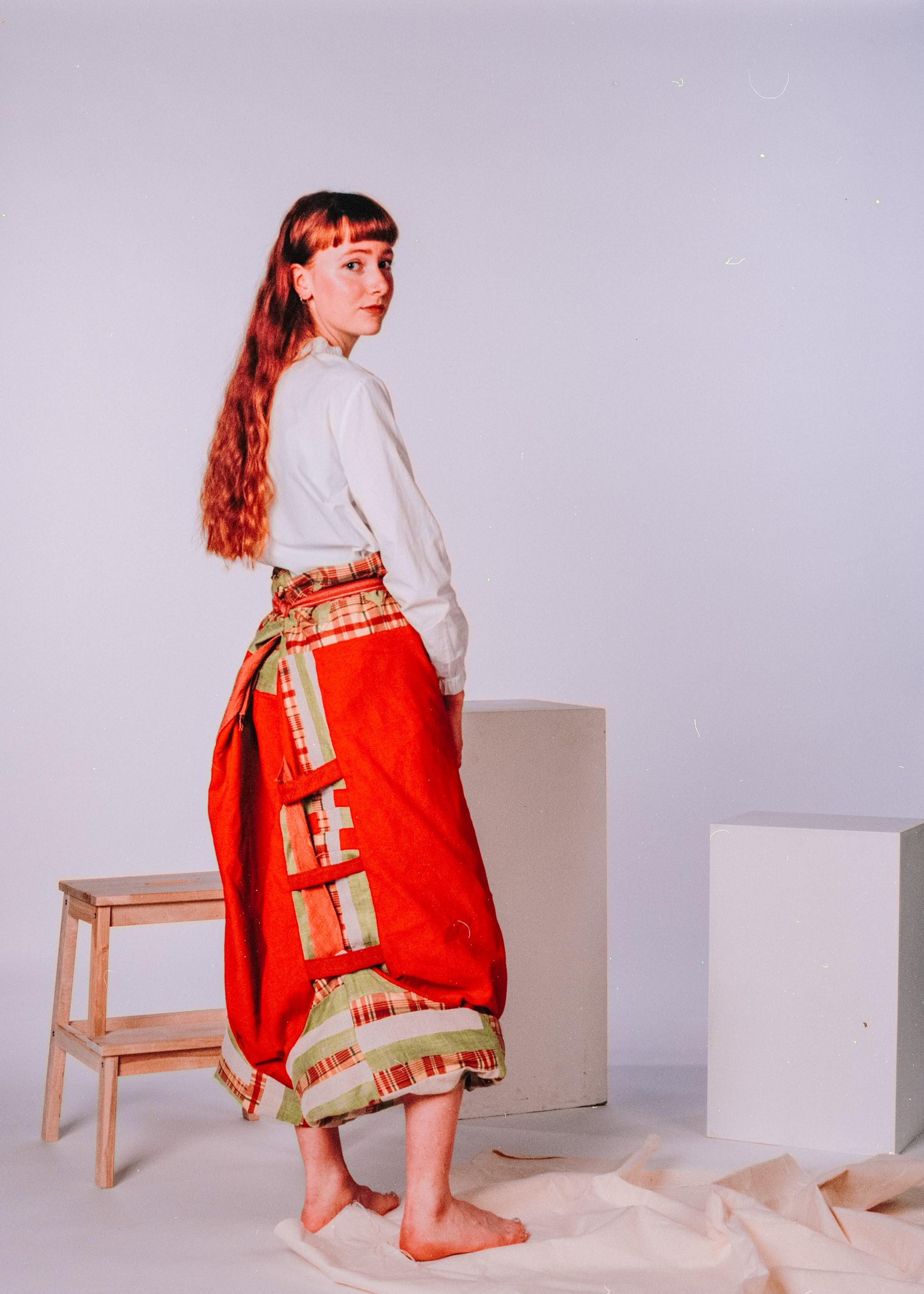 Model: Ella Porter  Trousers by Georgie Carey