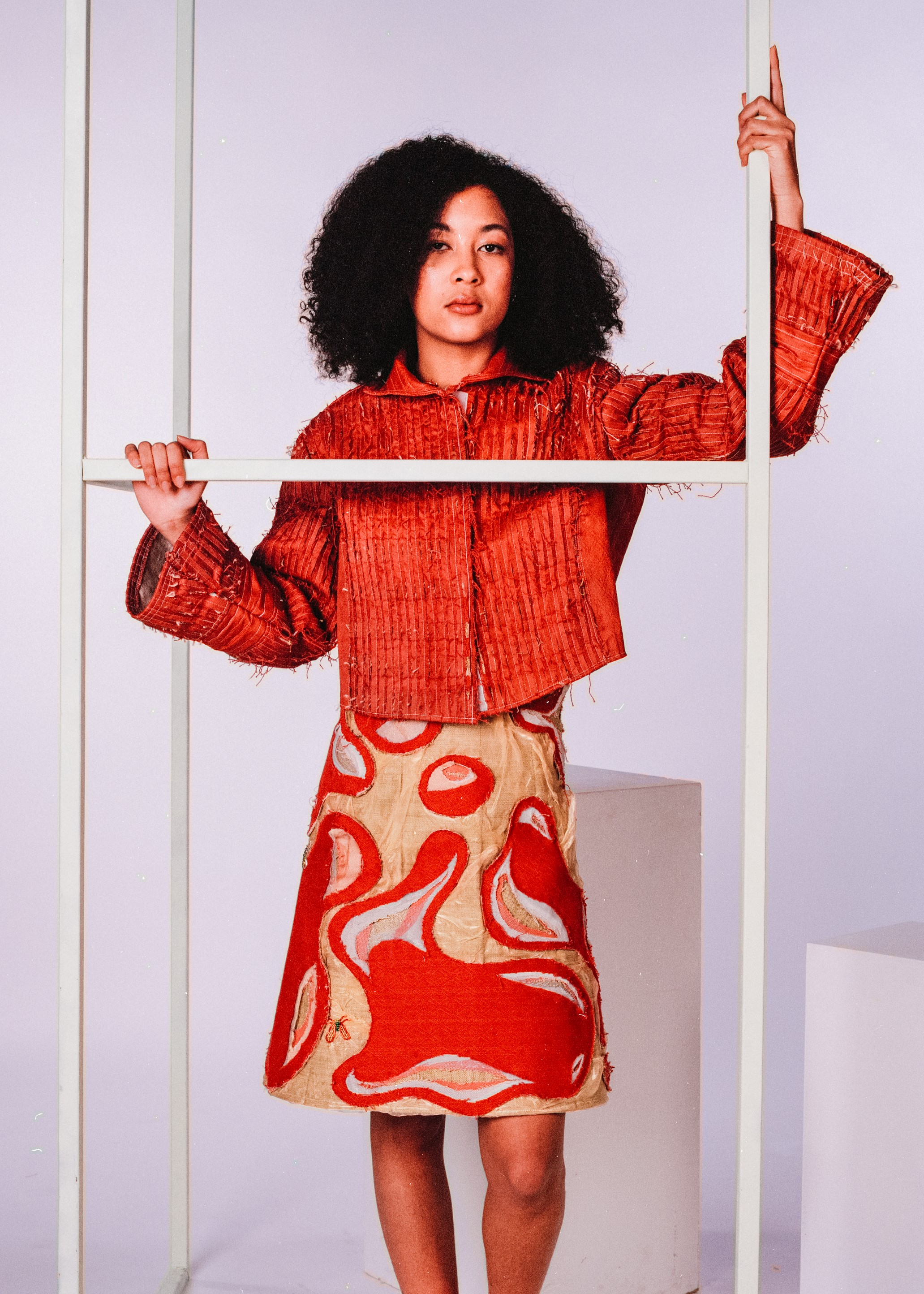 Model: Ilyana Bell  Dress by Annie Linfitt  Jacket by Katie Anderson