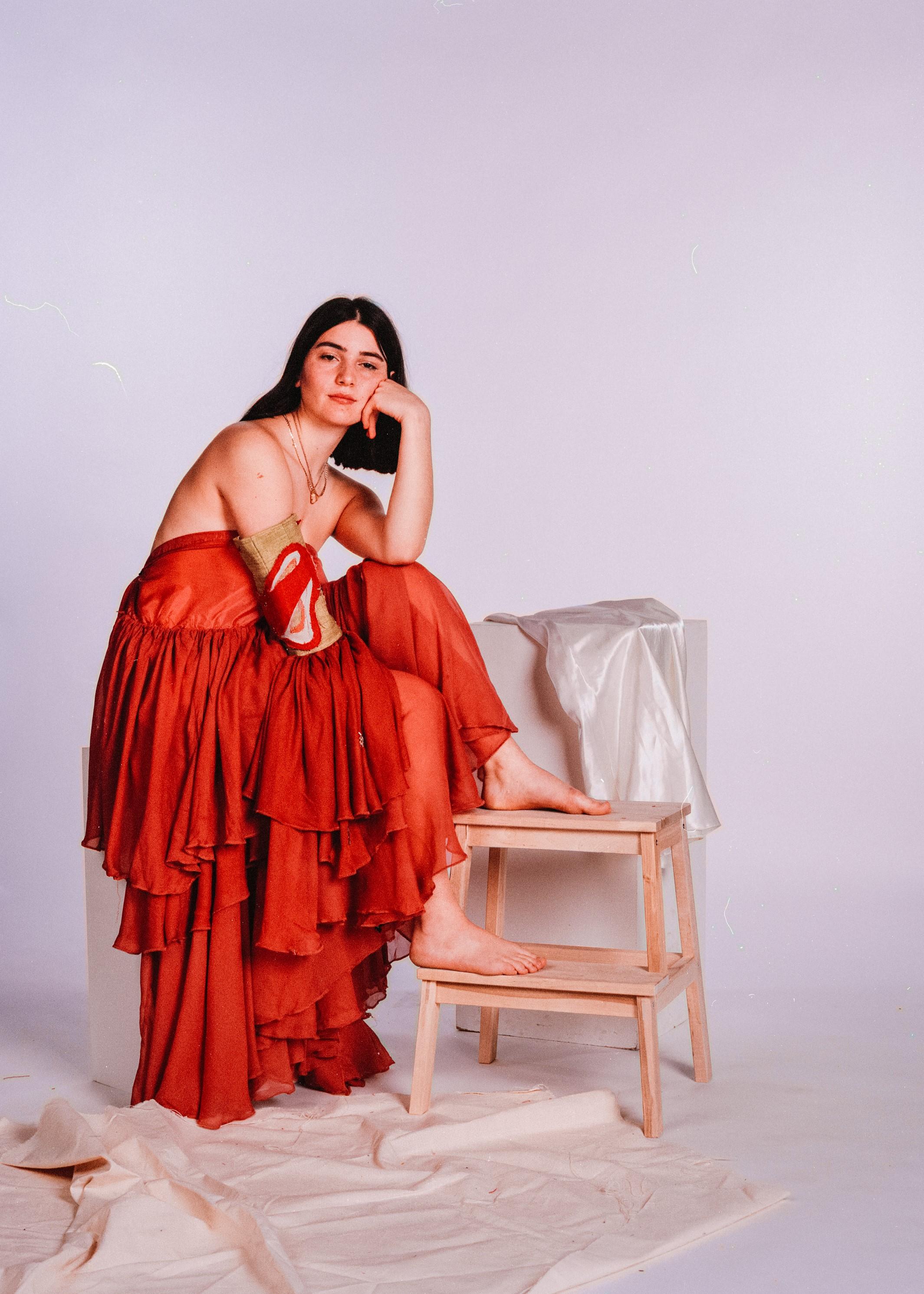 Model: Hannah Draper  Dress & arm cuff by Annie Linfitt