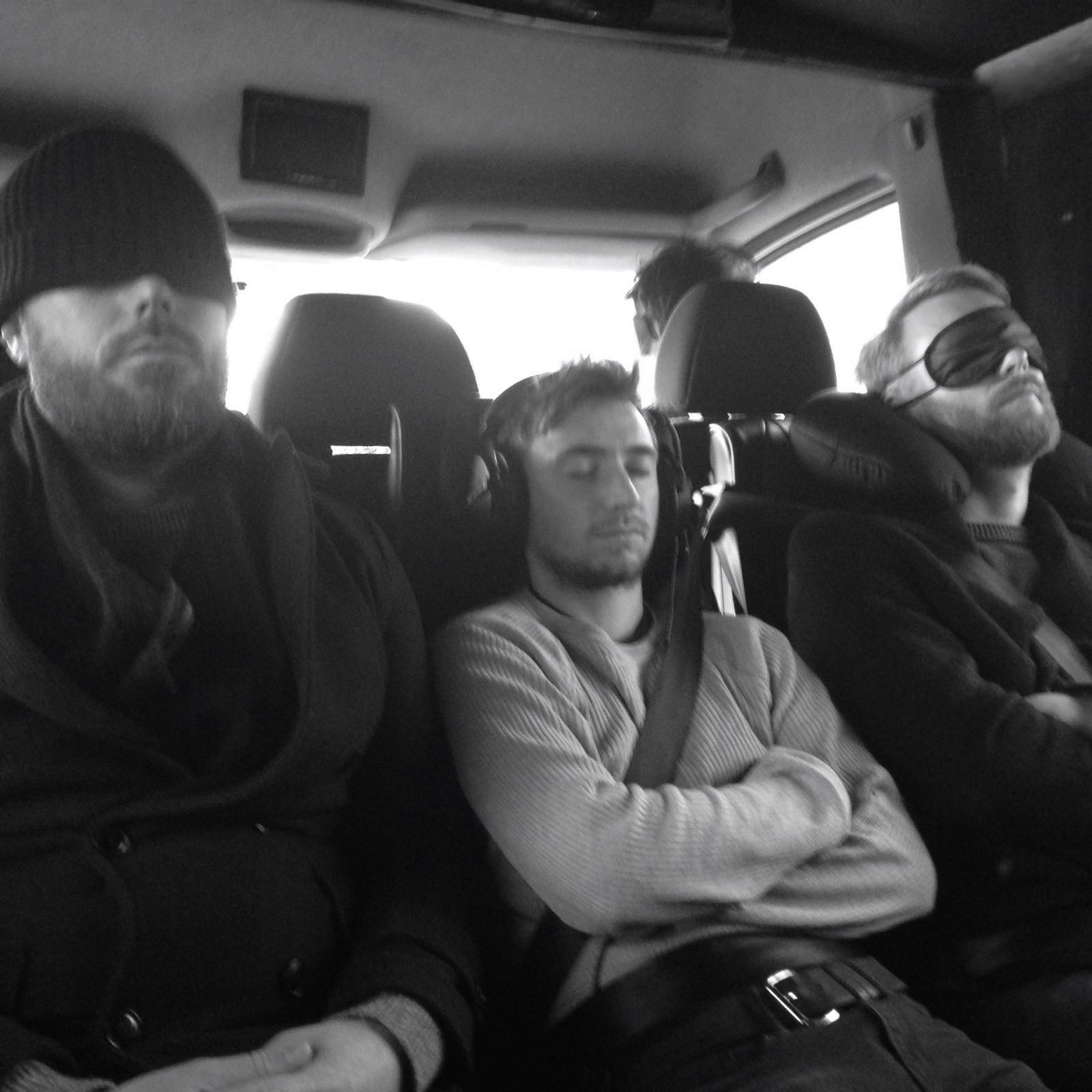 Party times on tour. Paul, Ol and our sound engineer Chris.