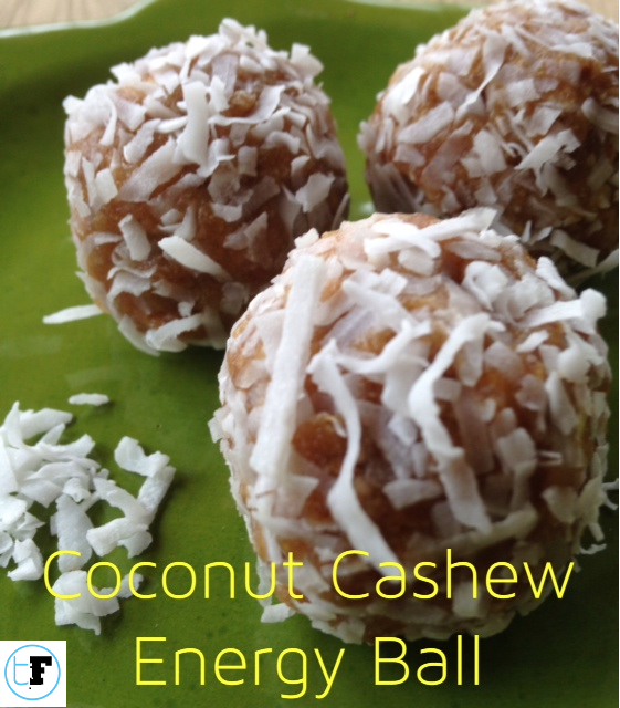coconut cashew energy ball