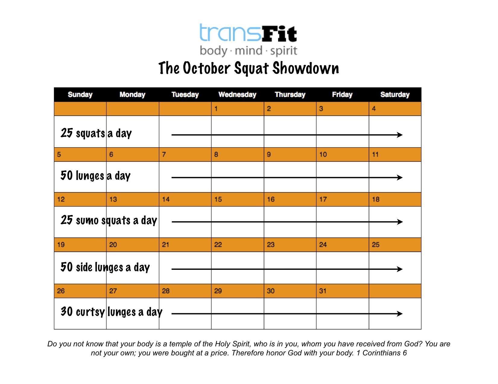 october squat challenge