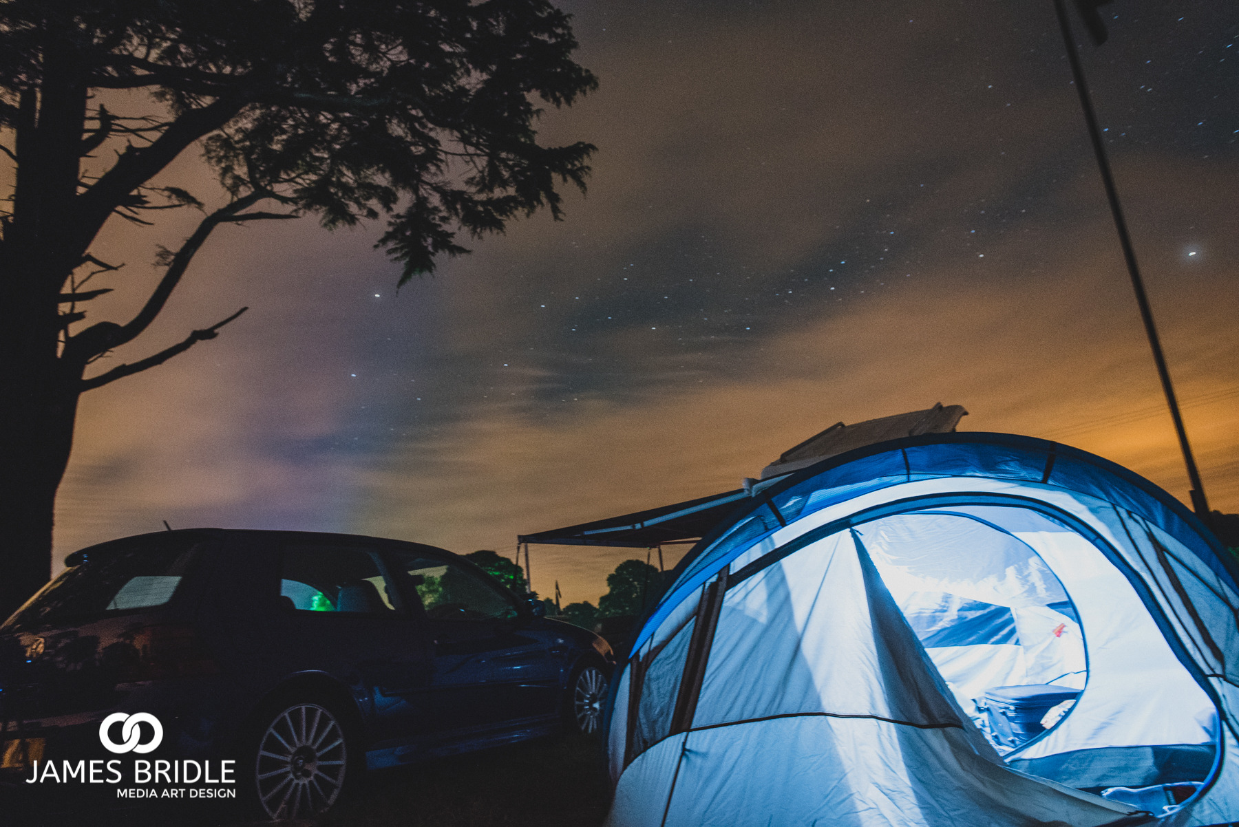 VW Camping at Night