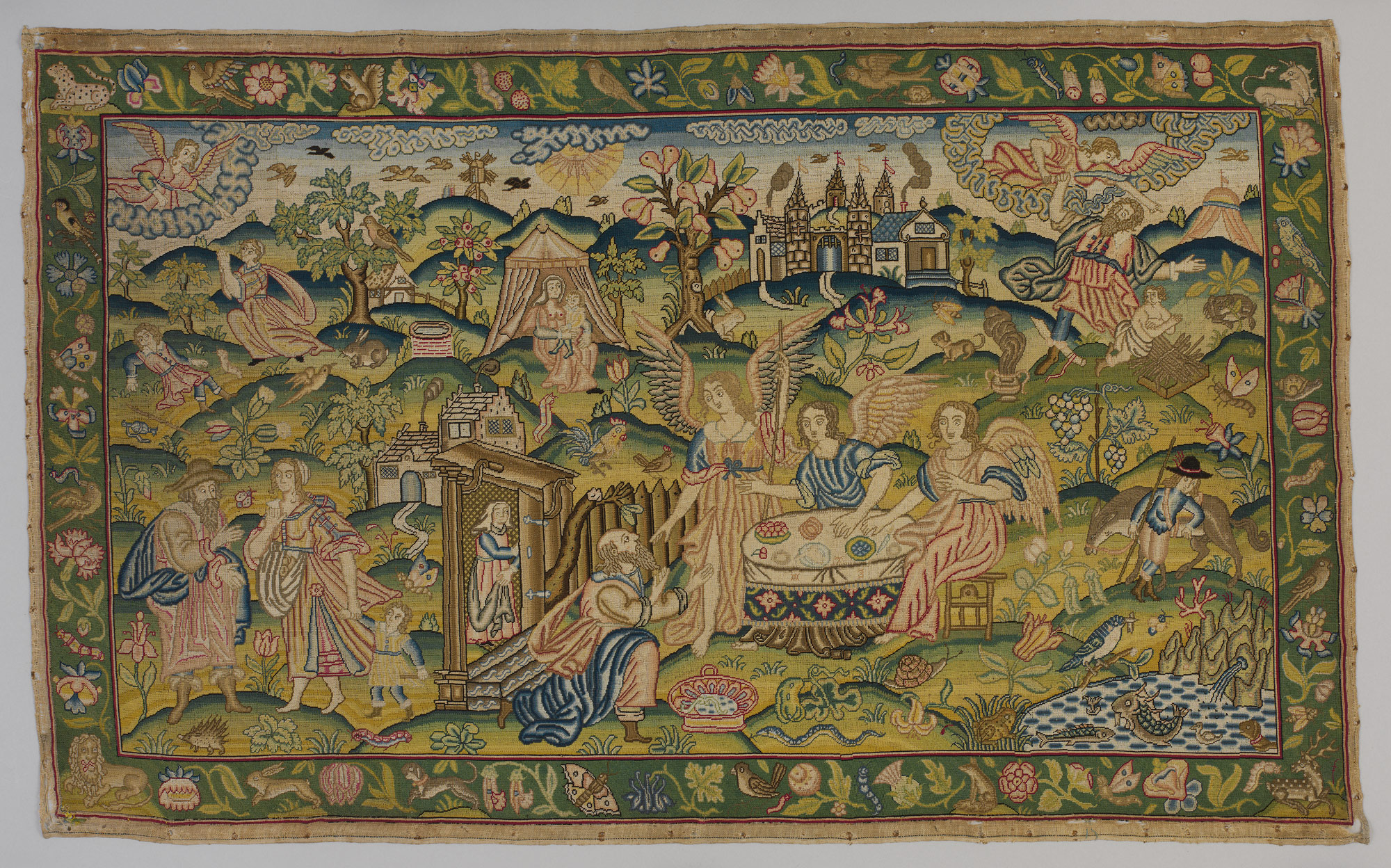 """Scenes from the Story of Abraham"" (Britain, mid-17th century), Anonymous (Metropolitan Museum of Art)"