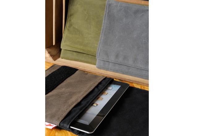 Waxed Canvas iPad Case