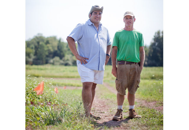 Jose Garces and farmer Alex McCracken
